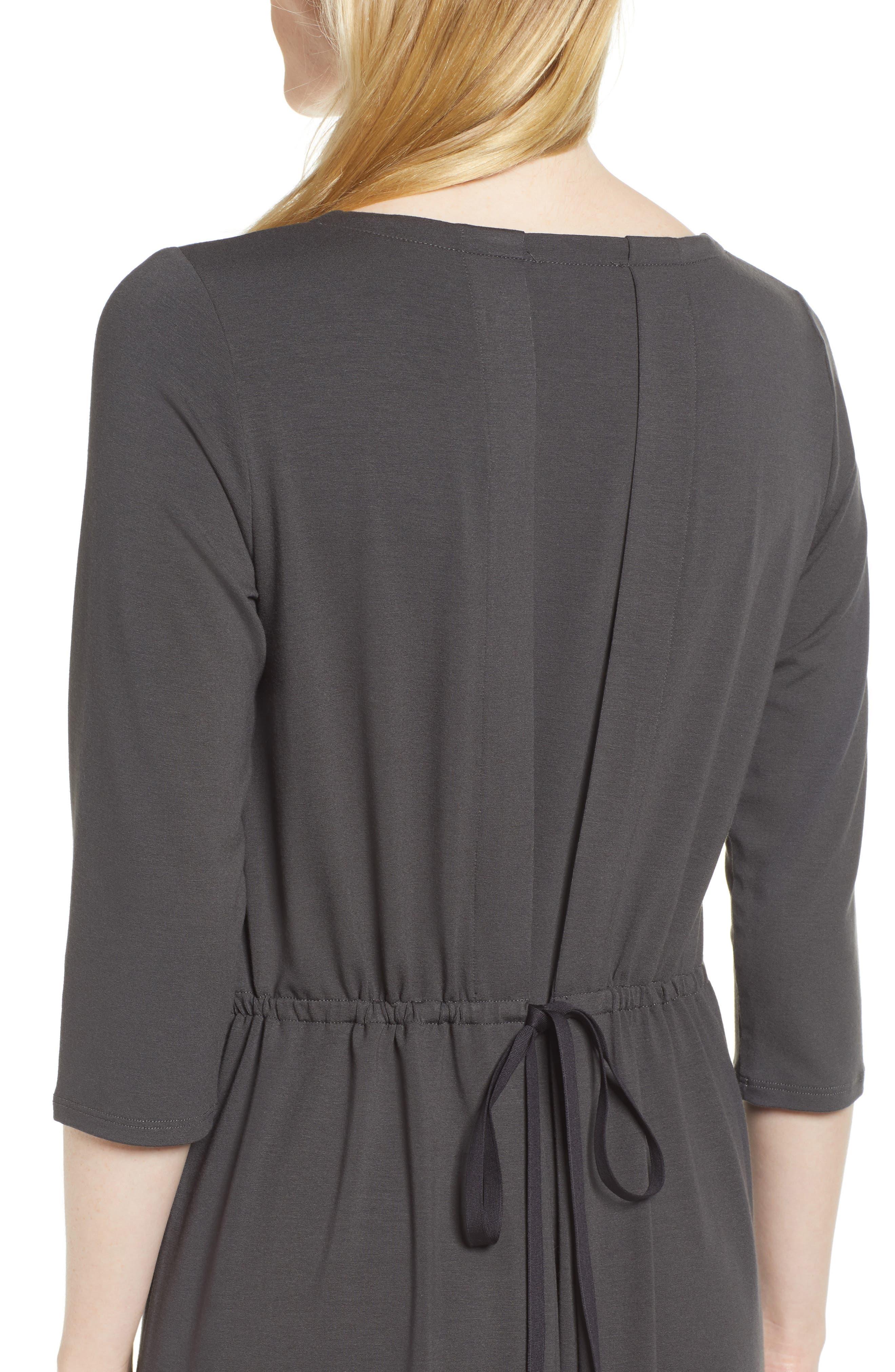 Tie Back Dress,                             Alternate thumbnail 4, color,                             025