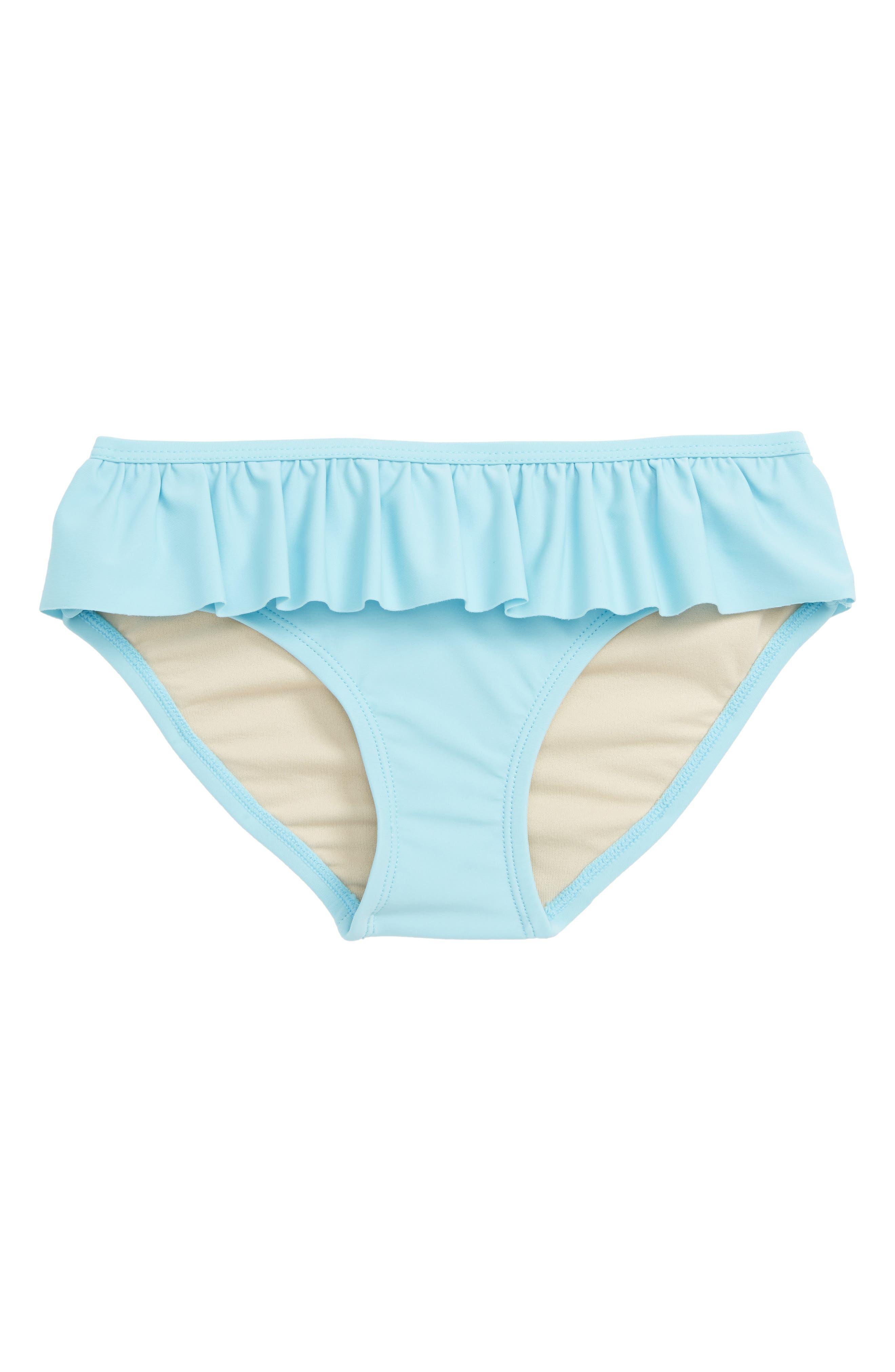 TEA COLLECTION Ruffle Bikini Bottoms, Main, color, ROBINS EGG