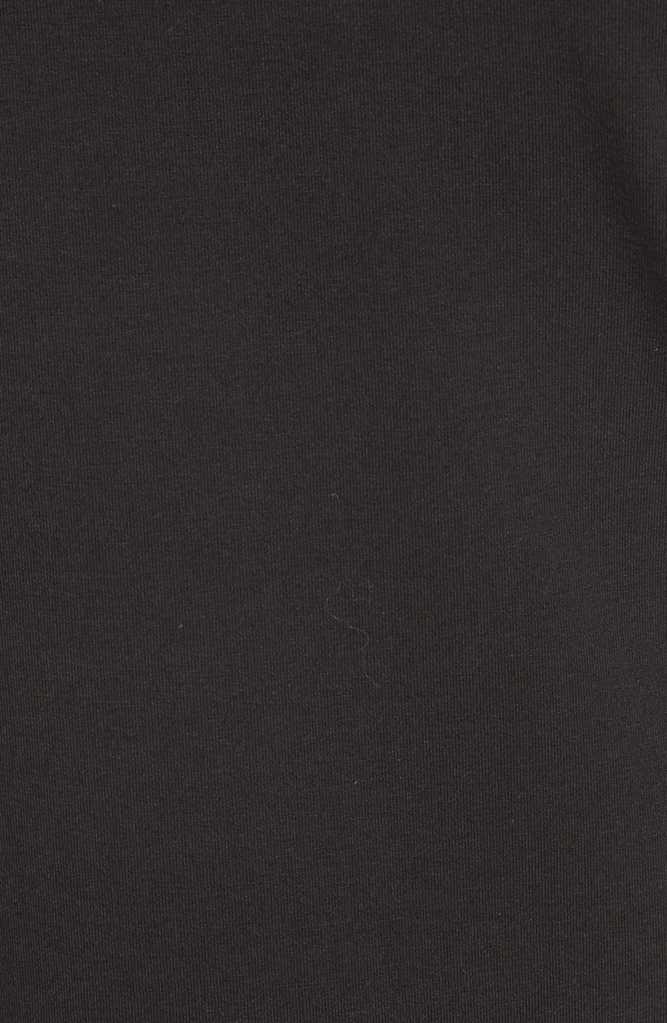 Rubri Knotted T-Shirt Dress,                             Alternate thumbnail 5, color,                             BLACK MULTI