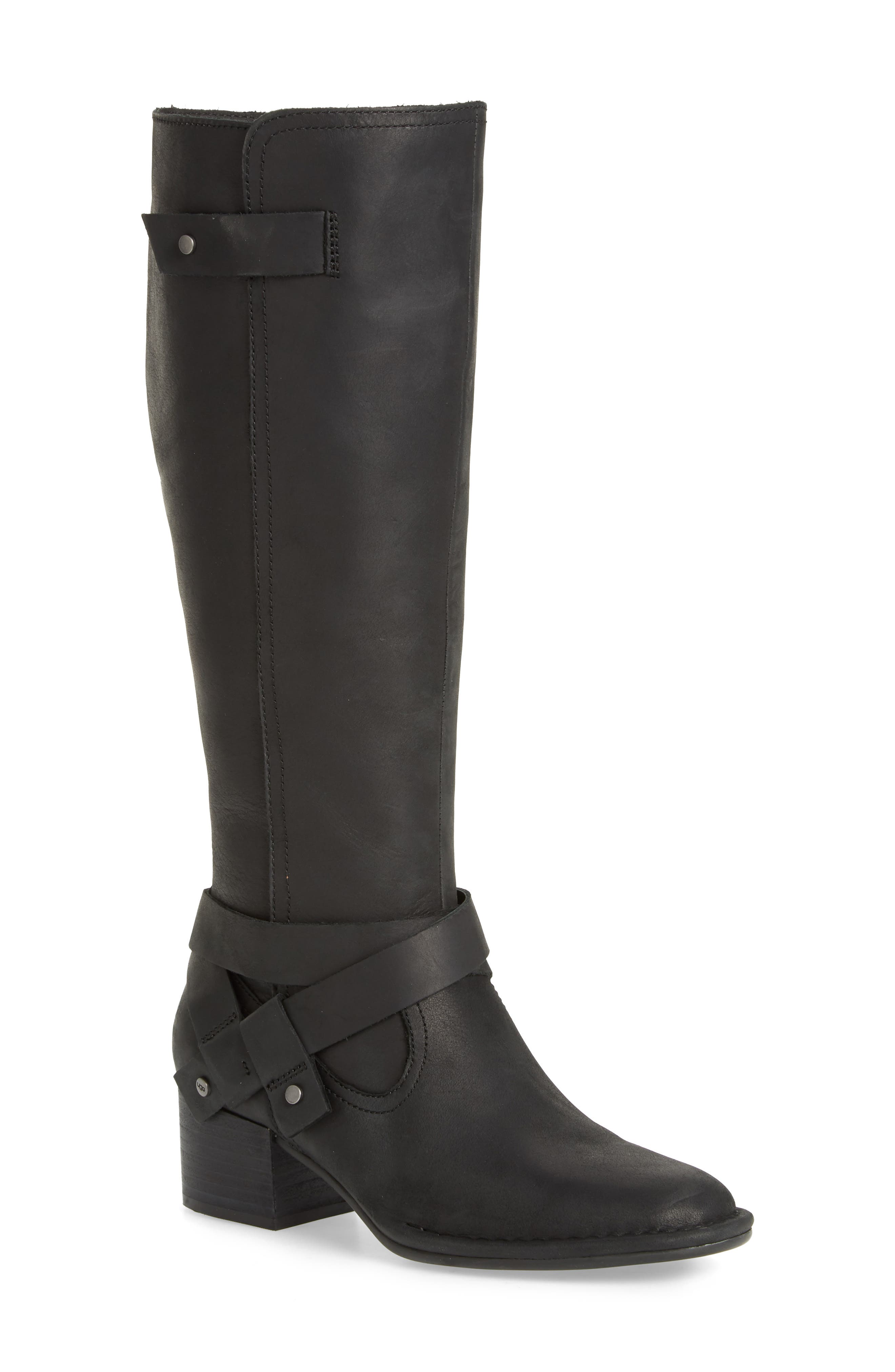 Bandara Knee High Boot,                             Main thumbnail 1, color,                             BLACK