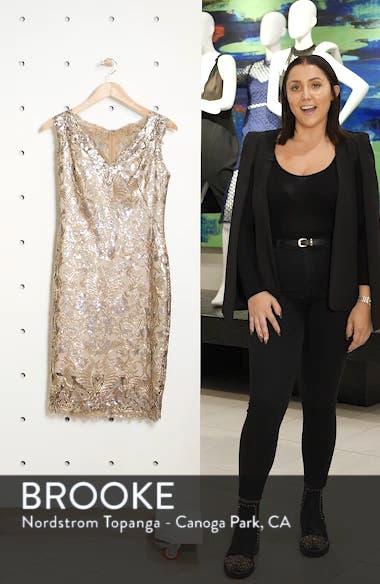 Sequin & Lace Sheath Dress, sales video thumbnail