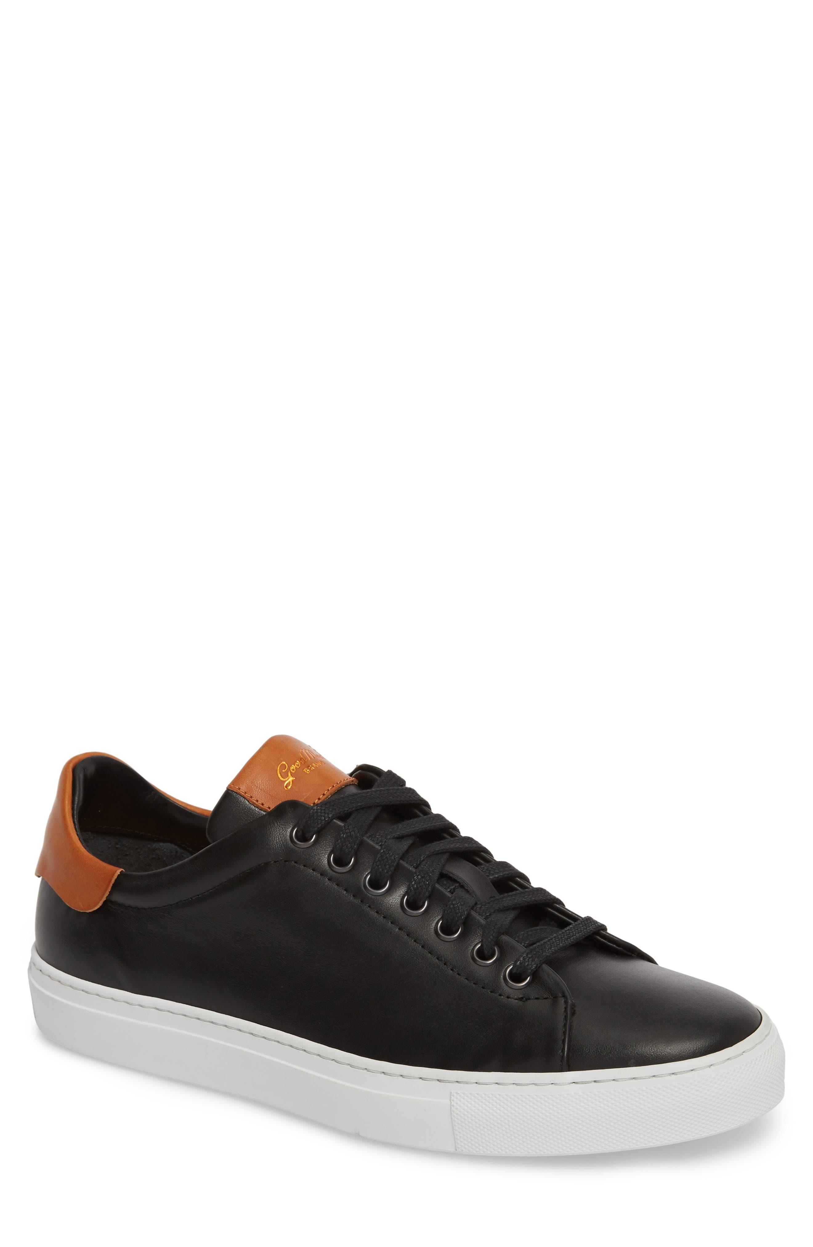 Legend Low Top Sneaker,                         Main,                         color, BLACK/ VACHETTA LEATHER