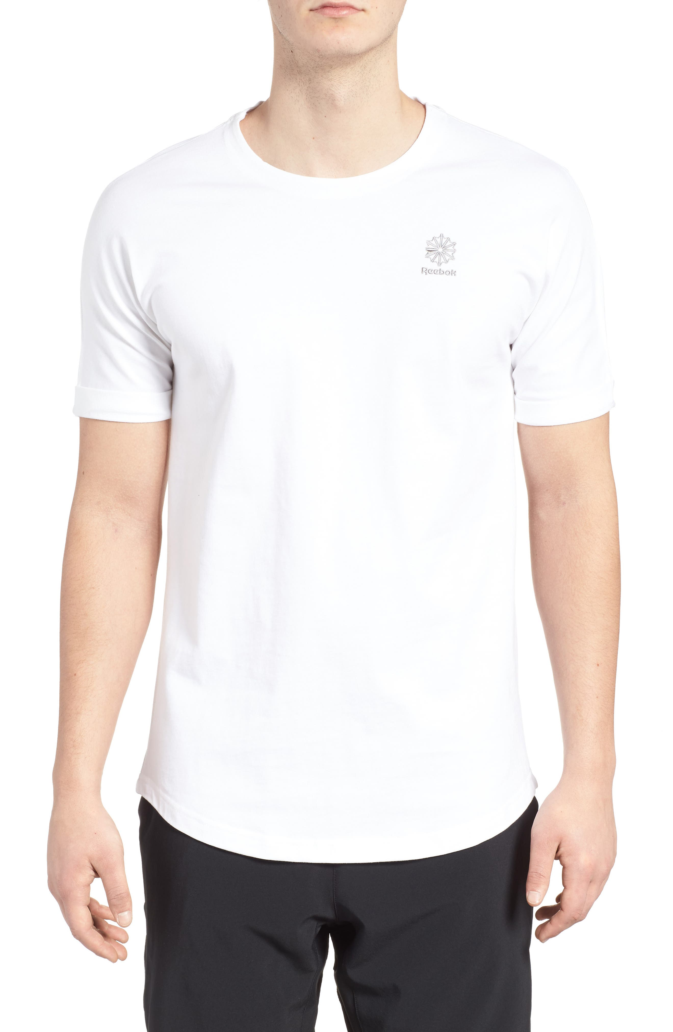 Extended Regular Crewneck T-Shirt,                         Main,                         color, 100