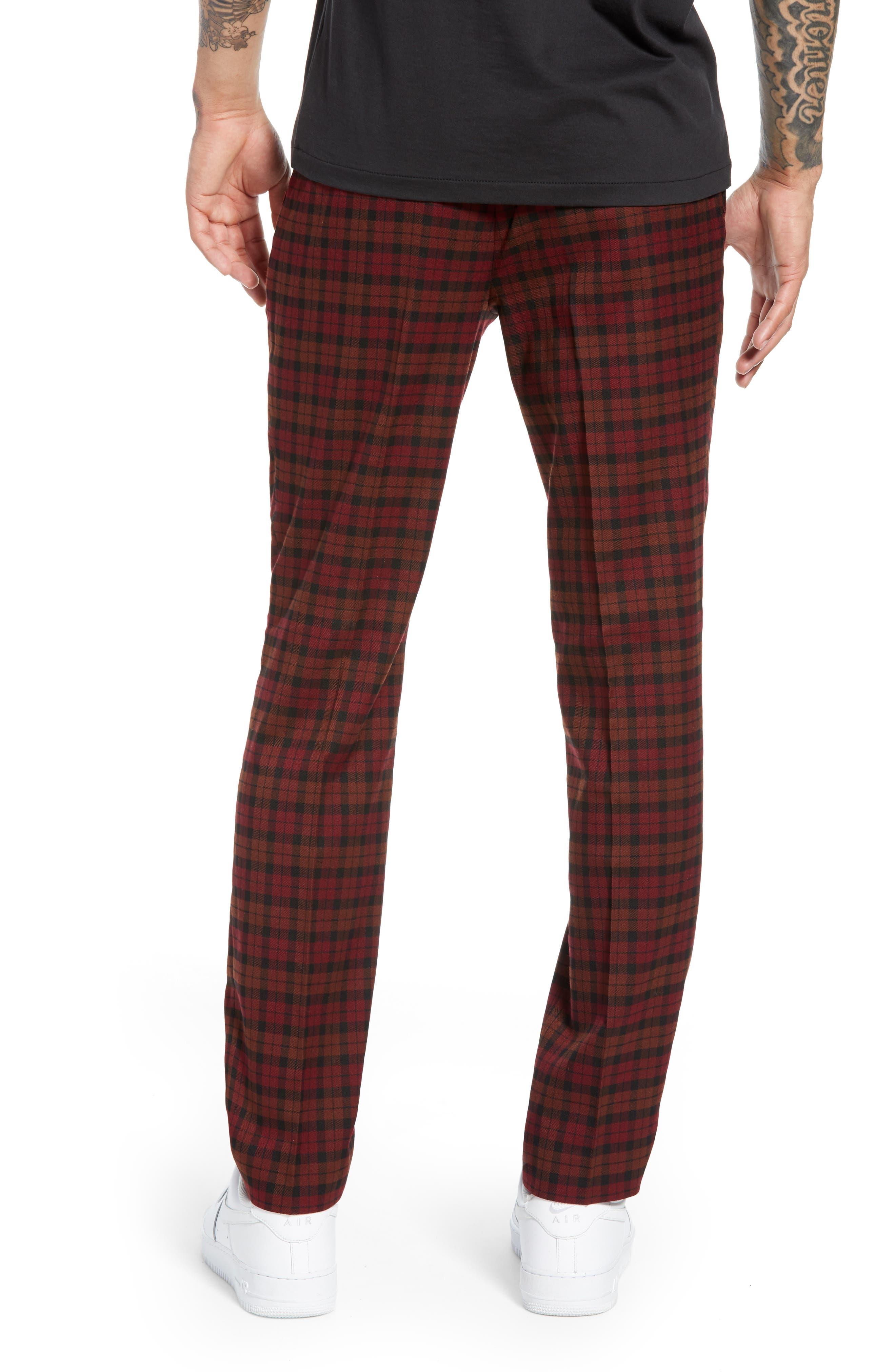Thorn Slim Fit Trousers,                             Alternate thumbnail 2, color,                             RED MULTI