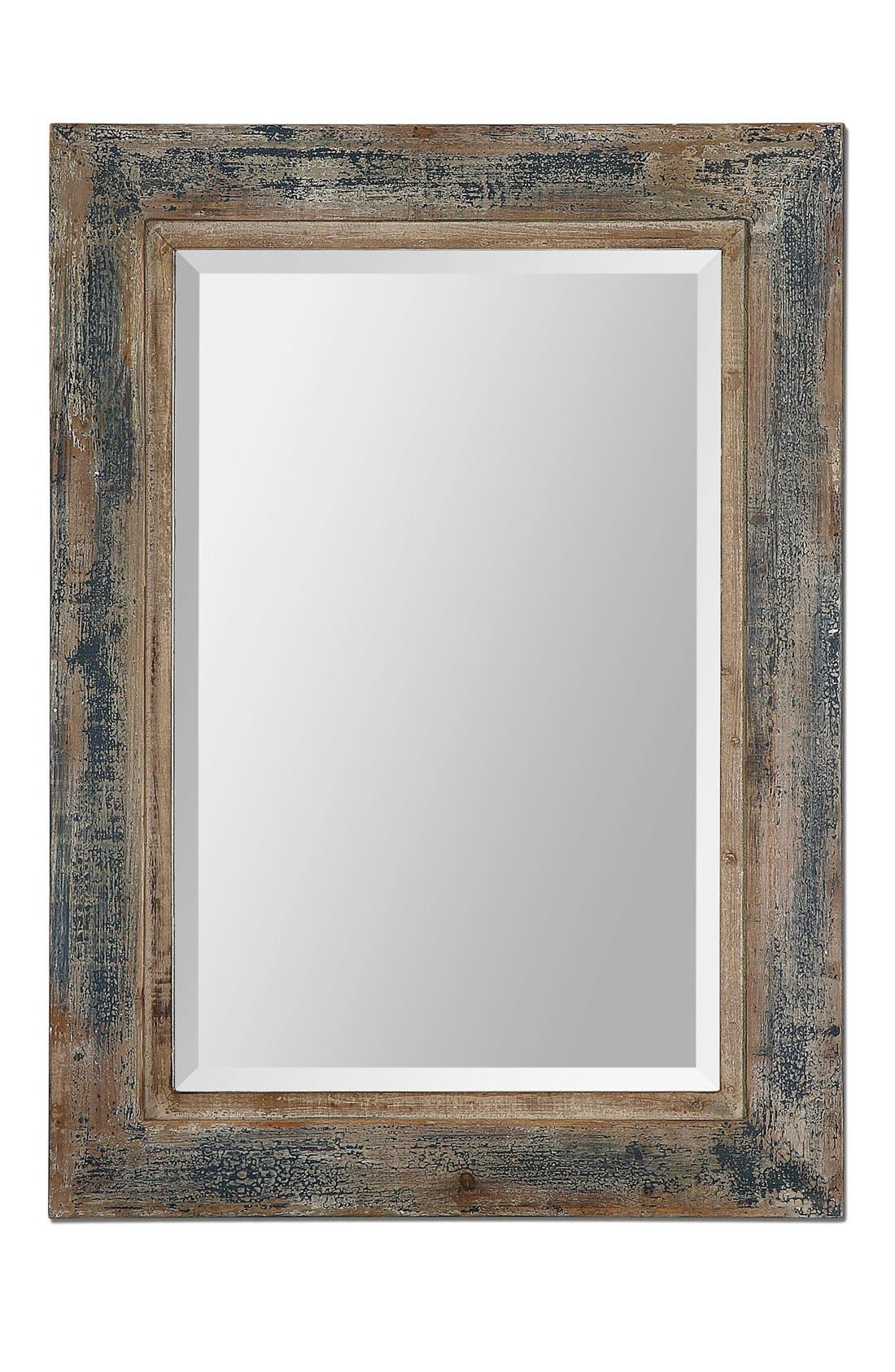 'Bozeman' Distressed Wooden Mirror,                             Main thumbnail 1, color,