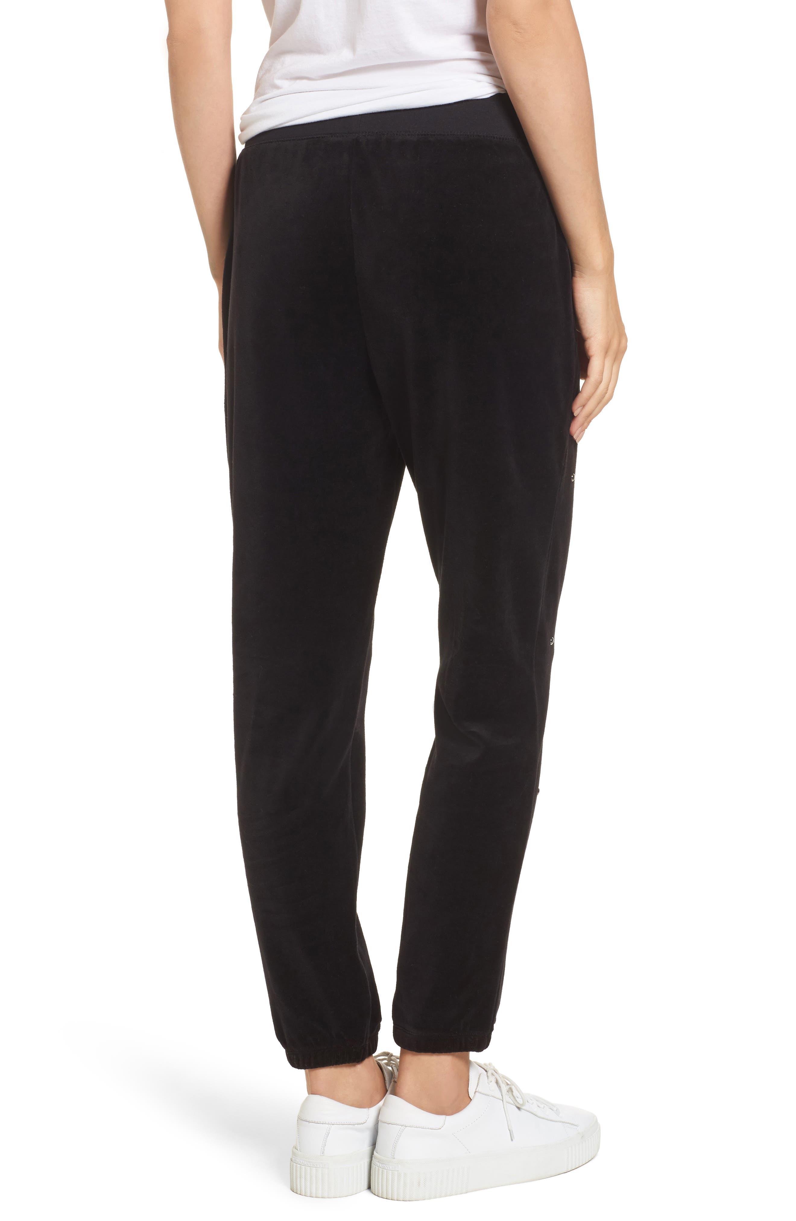Velour Studded Track Pants,                             Alternate thumbnail 2, color,                             009