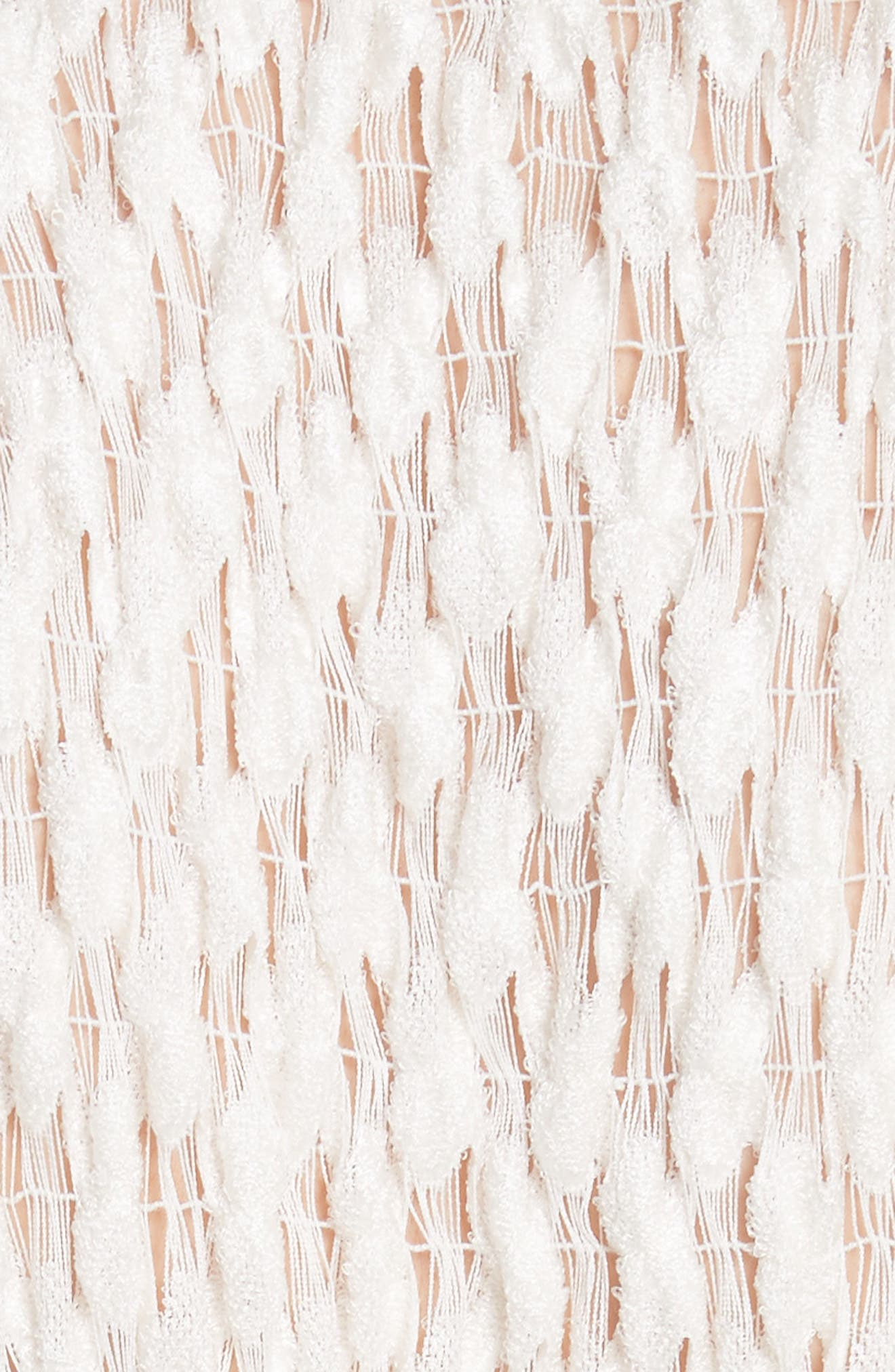 Merge Midi Dress,                             Alternate thumbnail 5, color,                             OFF WHITE