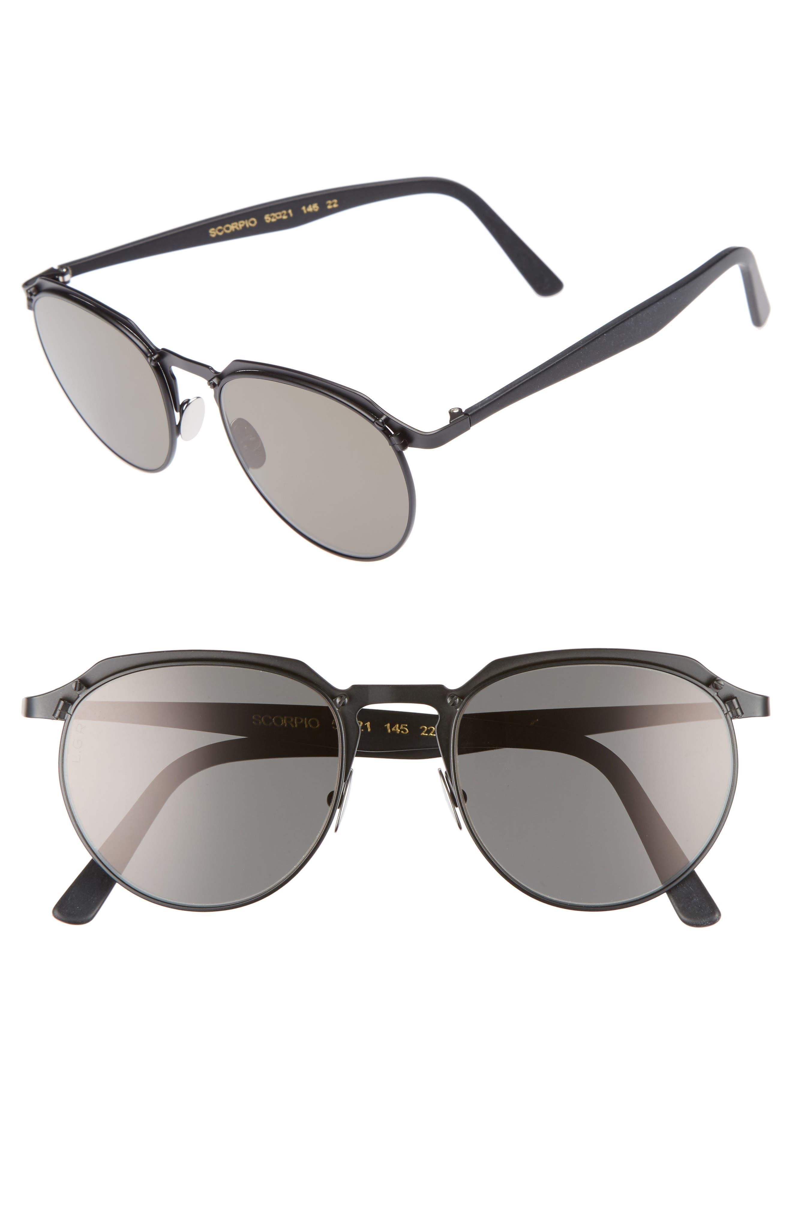 Scorpio 52mm Sunglasses,                             Main thumbnail 1, color,                             001