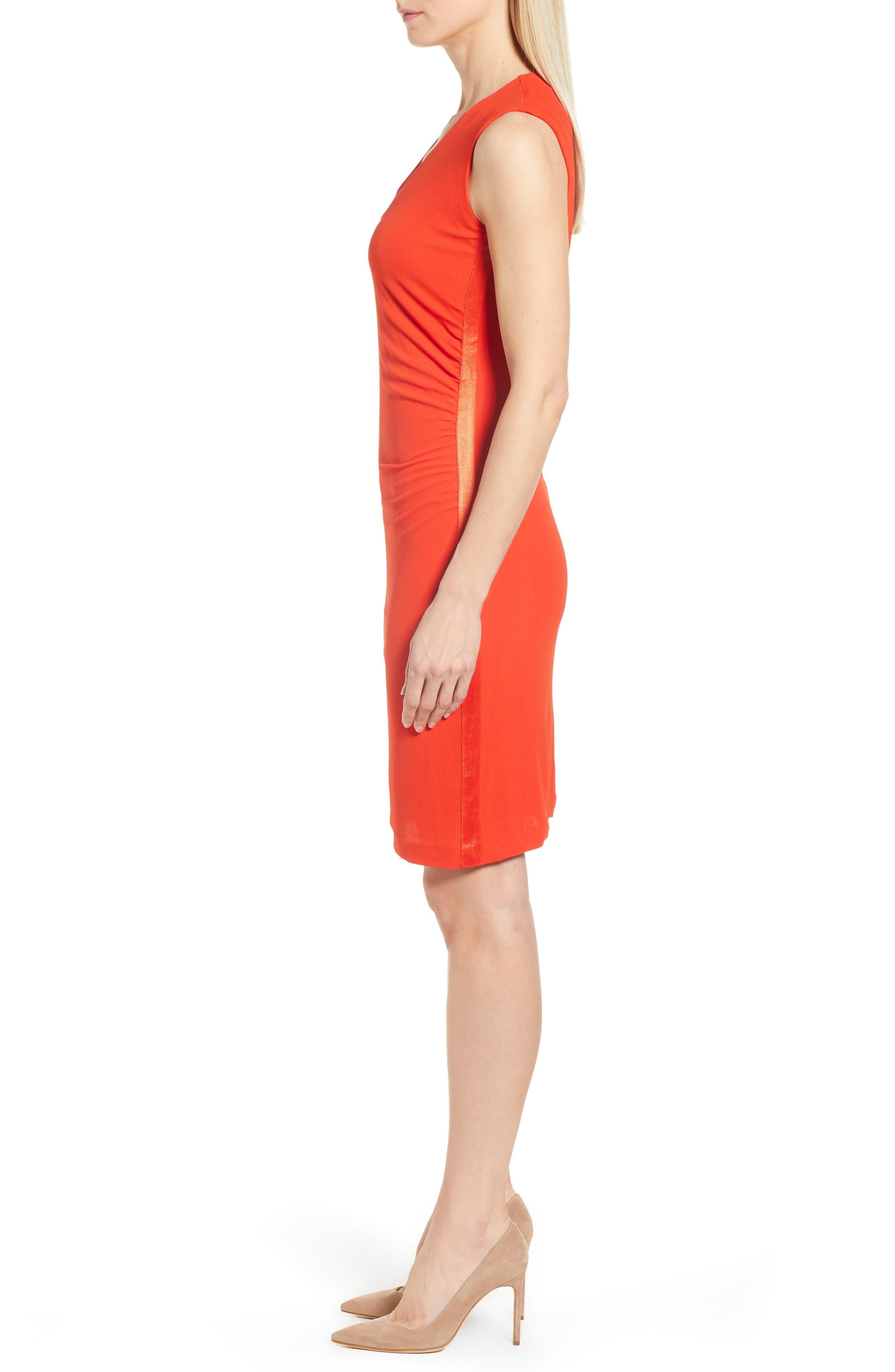 Erela Ruched Sheath Dress,                             Alternate thumbnail 3, color,                             824