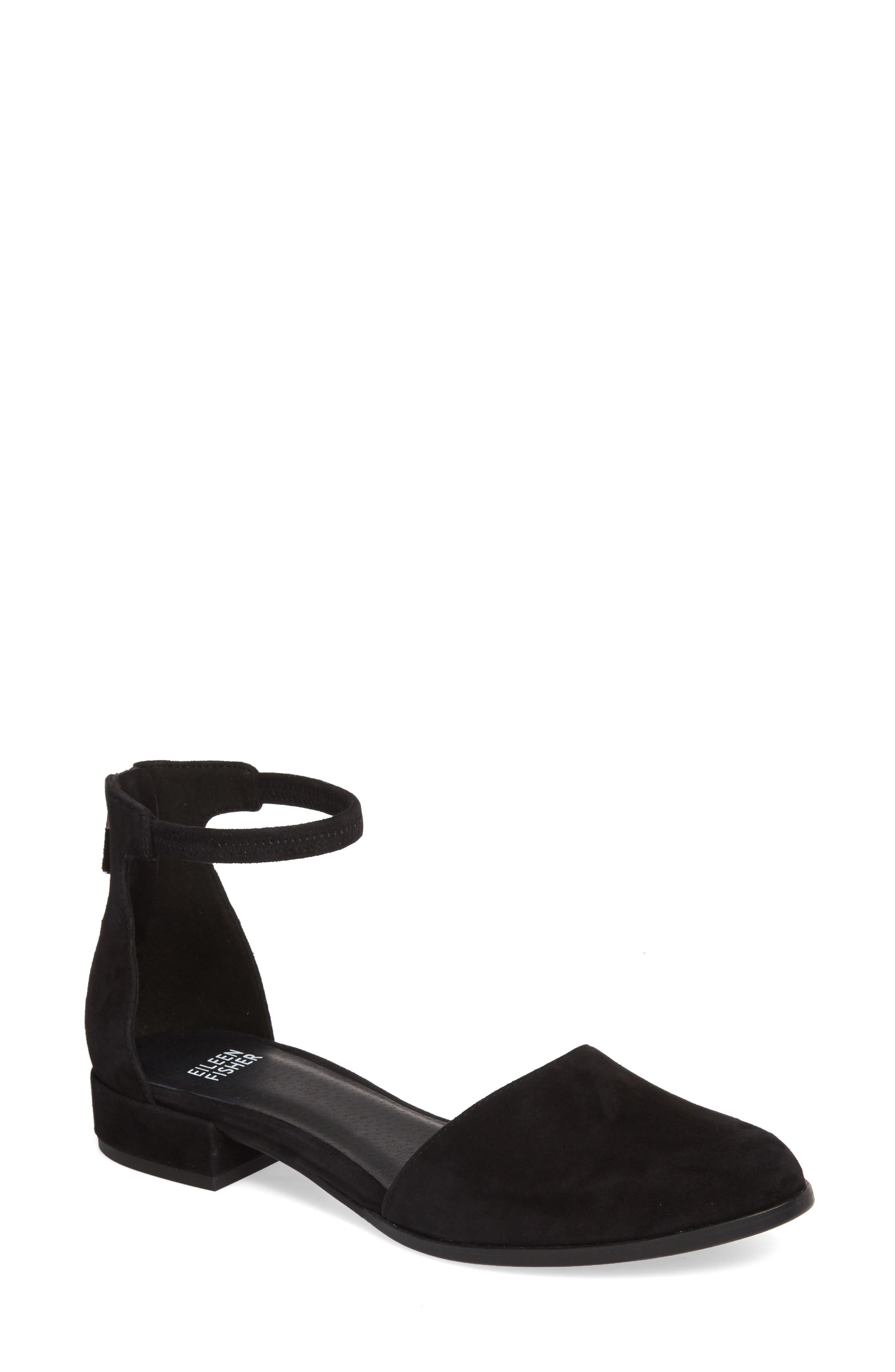 Hutton Ankle Strap Shoe,                             Main thumbnail 1, color,                             001