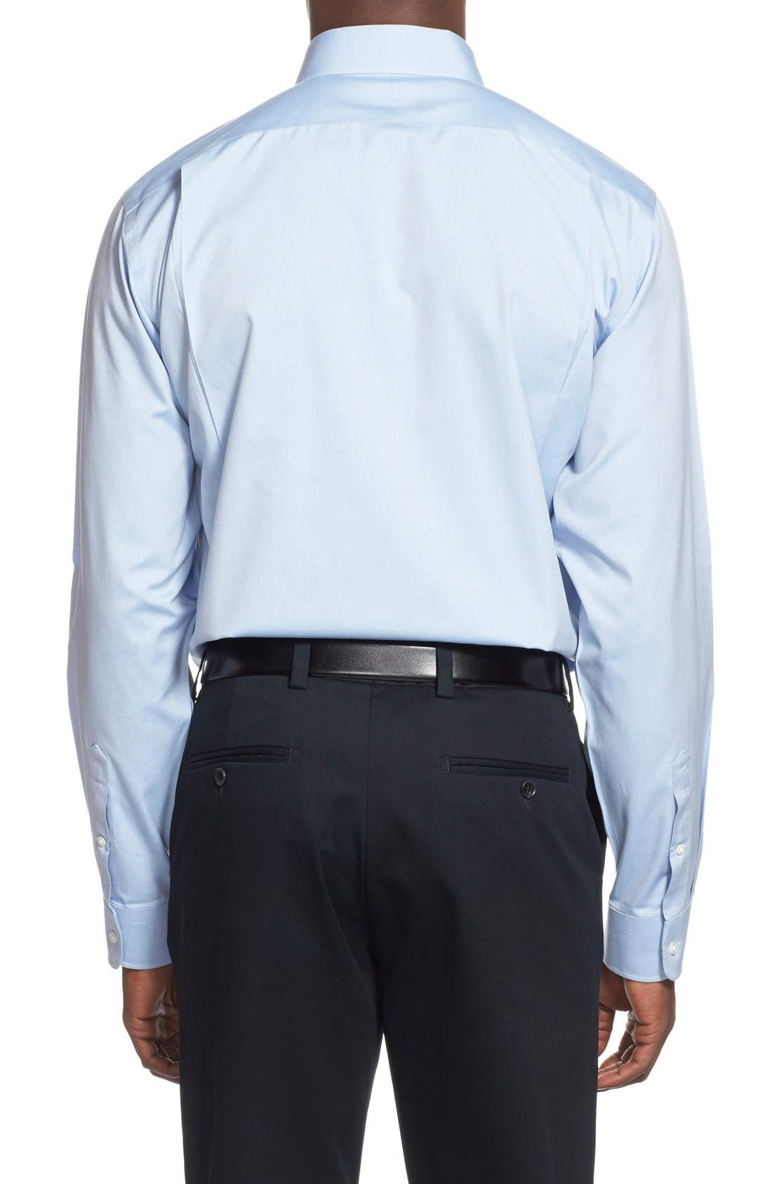 Smartcare<sup>™</sup> Traditional Fit Pinpoint Dress Shirt,                             Alternate thumbnail 48, color,