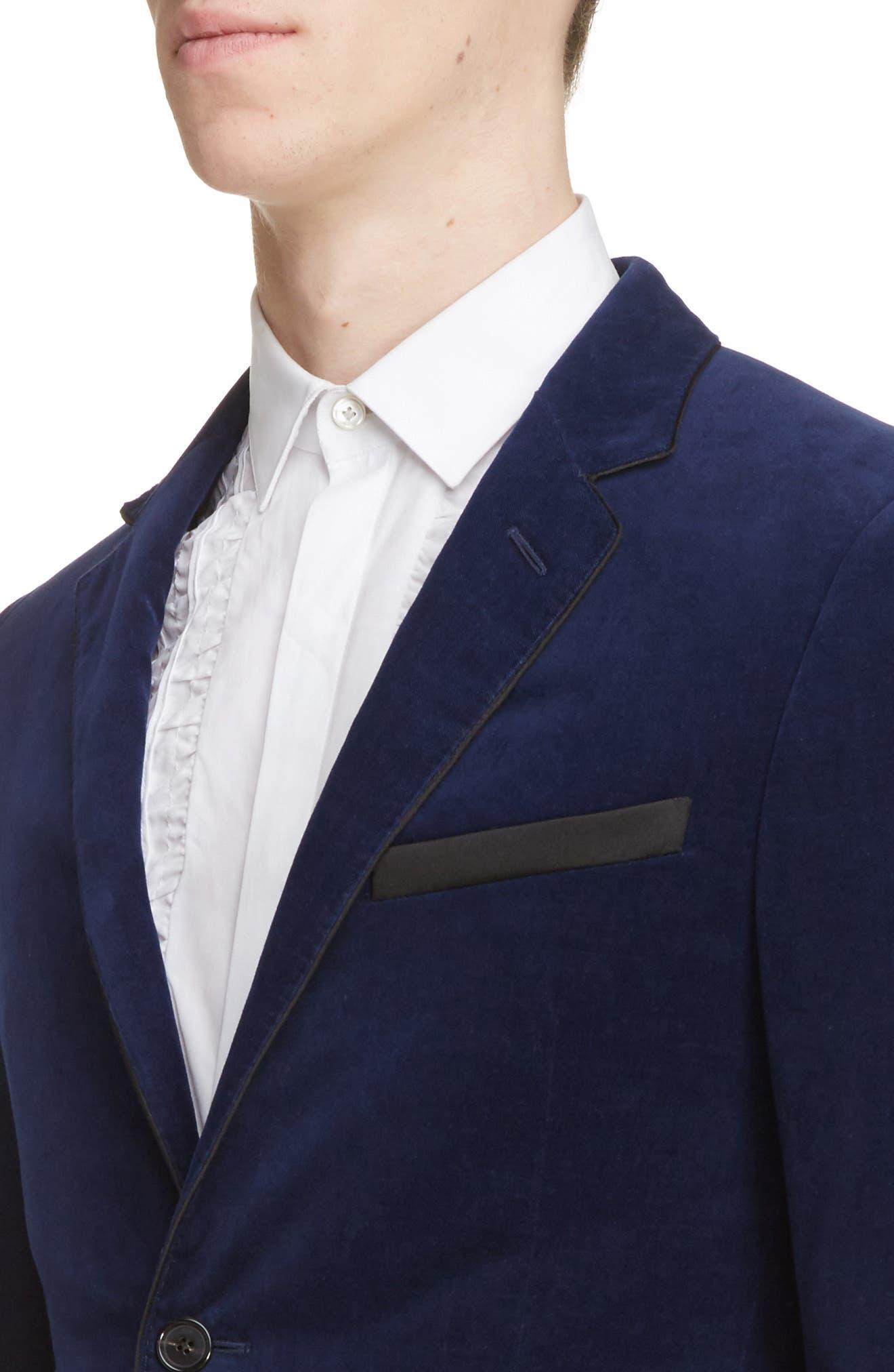 Extra Slim Fit Velvet Jacket,                             Alternate thumbnail 4, color,                             400