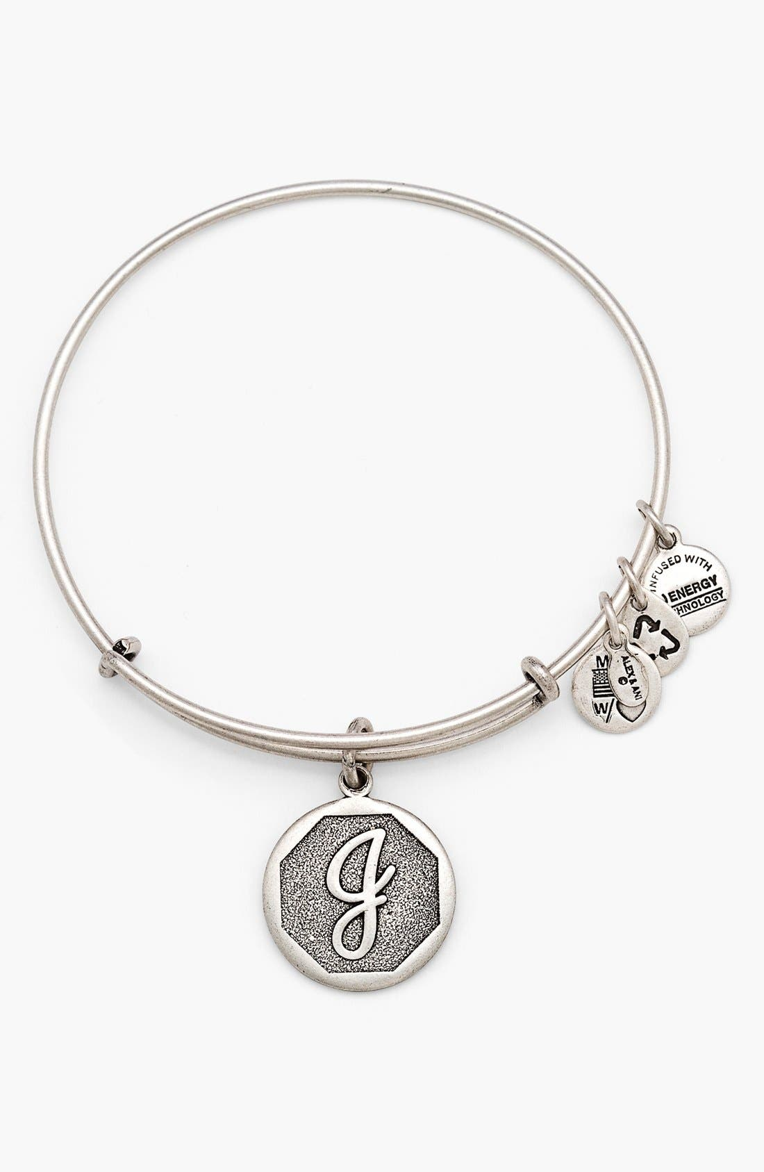 'Initial' Adjustable Wire Bangle,                             Main thumbnail 11, color,