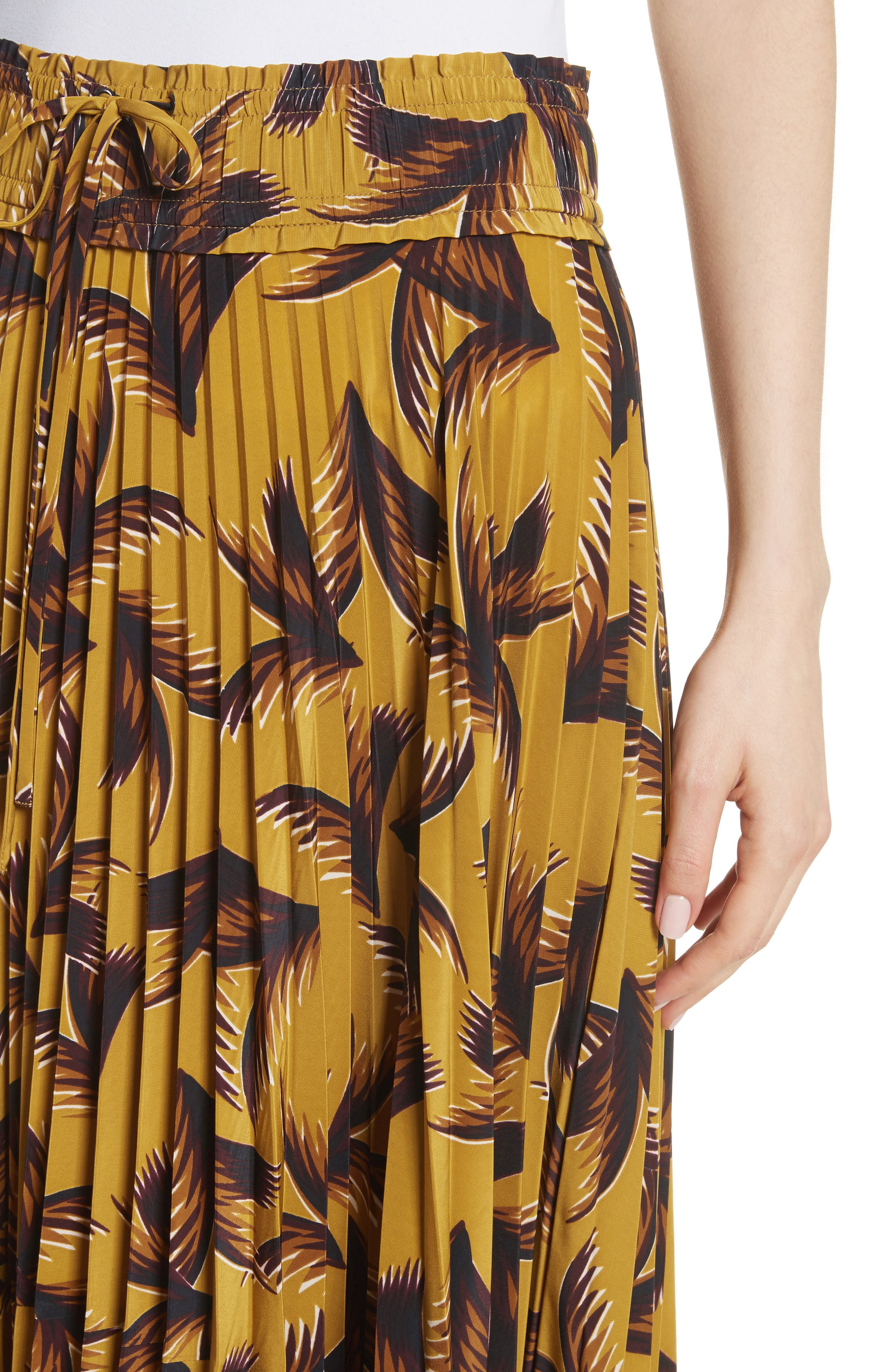 Maya Pleated A-Line Skirt,                             Alternate thumbnail 4, color,