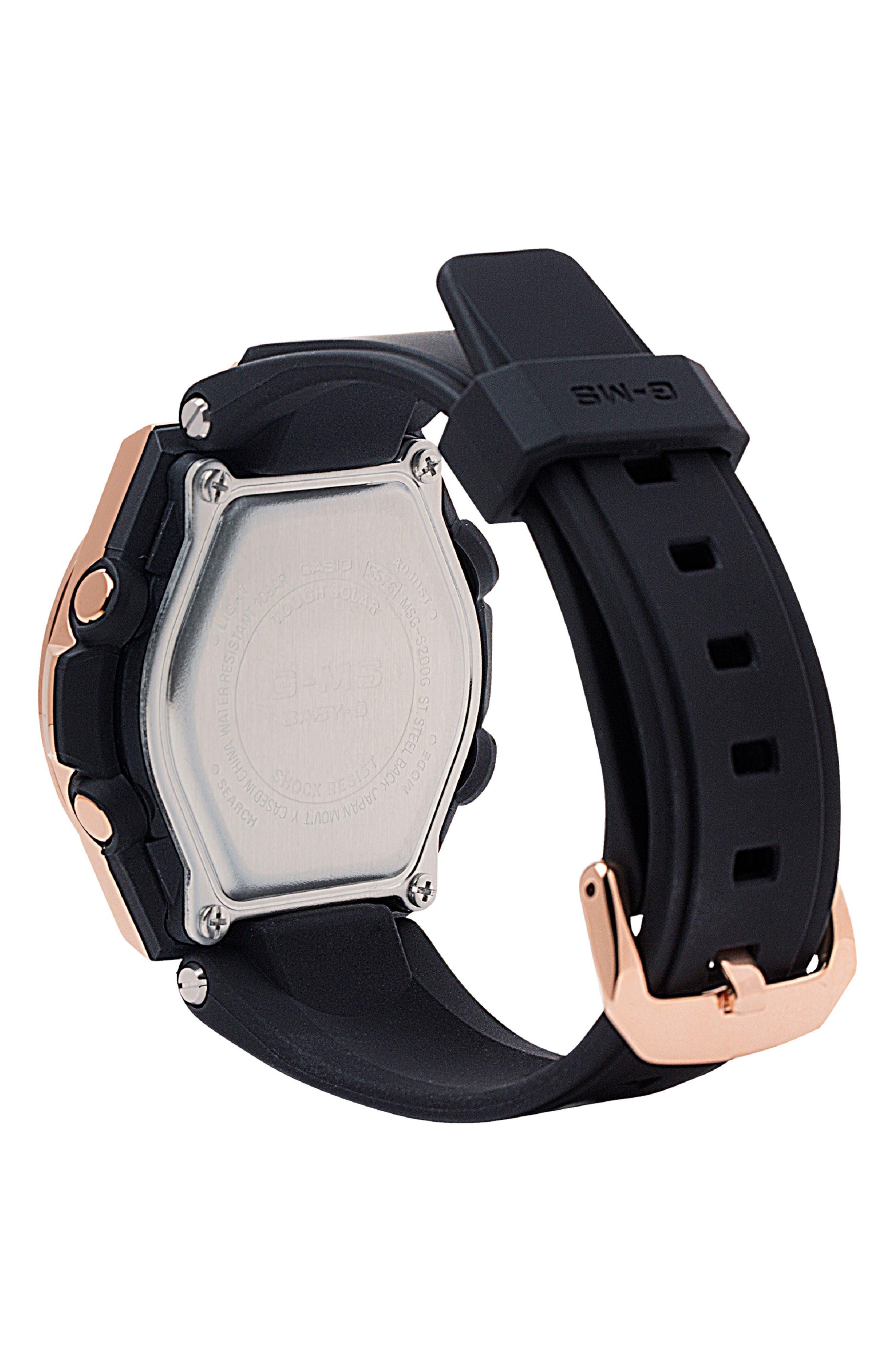 G-Shock G-MS Ana-Digi Resin Strap Watch, 38mm,                             Alternate thumbnail 2, color,                             001