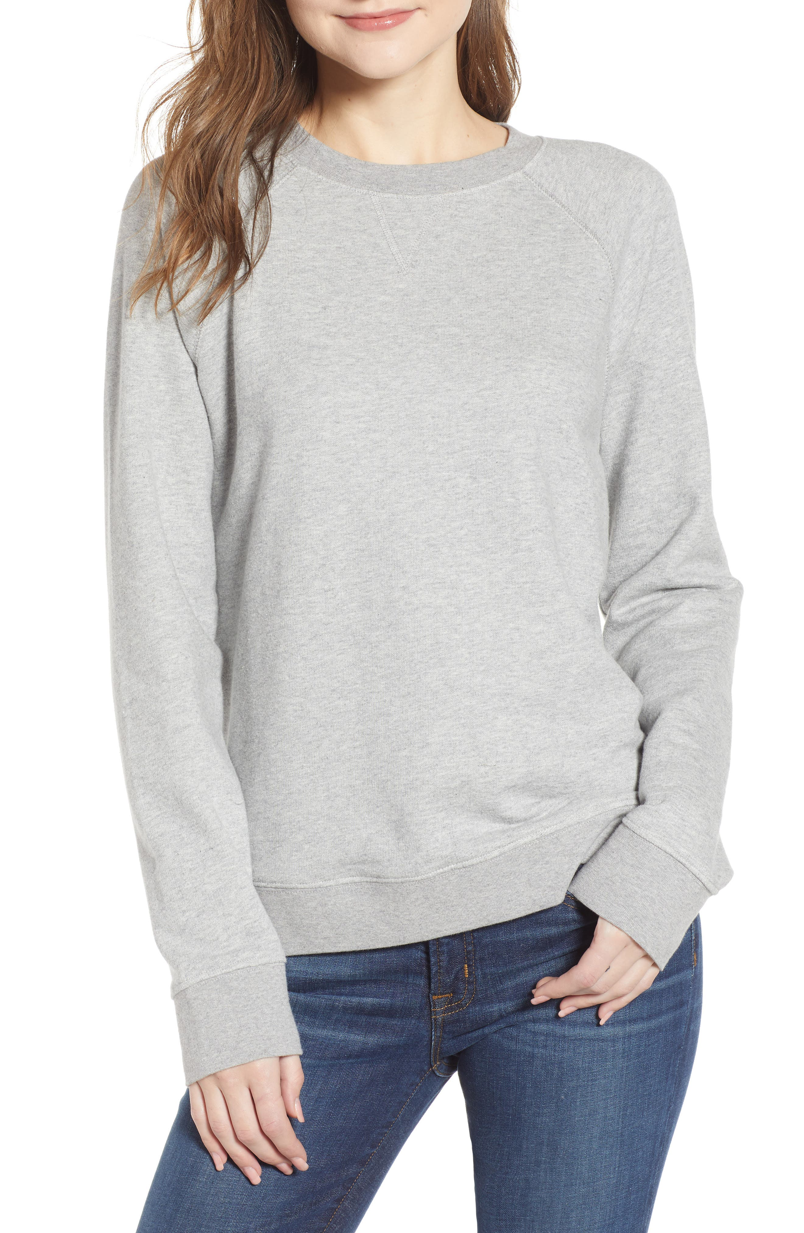 J.crew Garment Dyed Sweatshirt, Grey