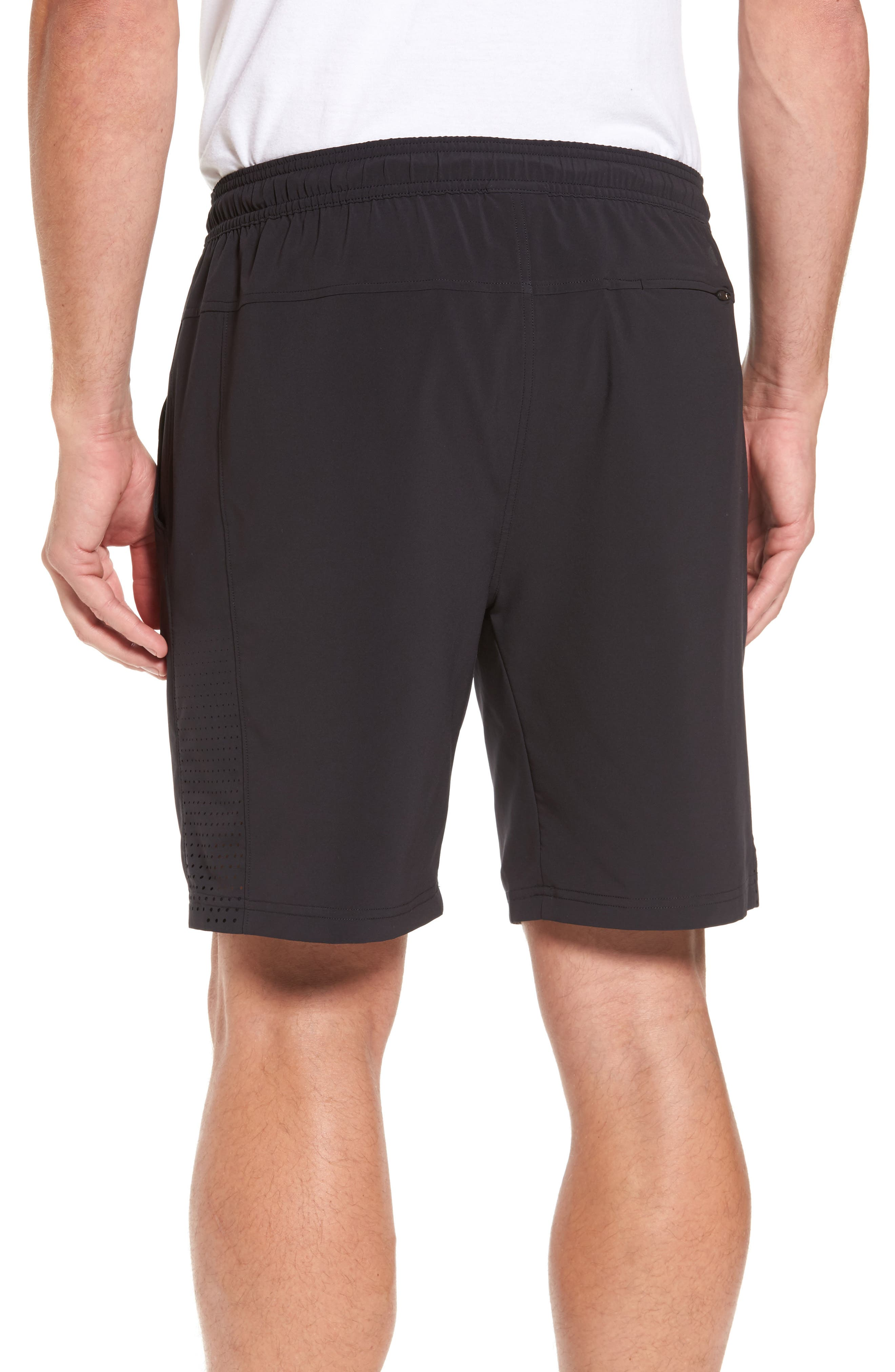 Graphite Core Athletic Shorts,                             Alternate thumbnail 2, color,                             BLACK
