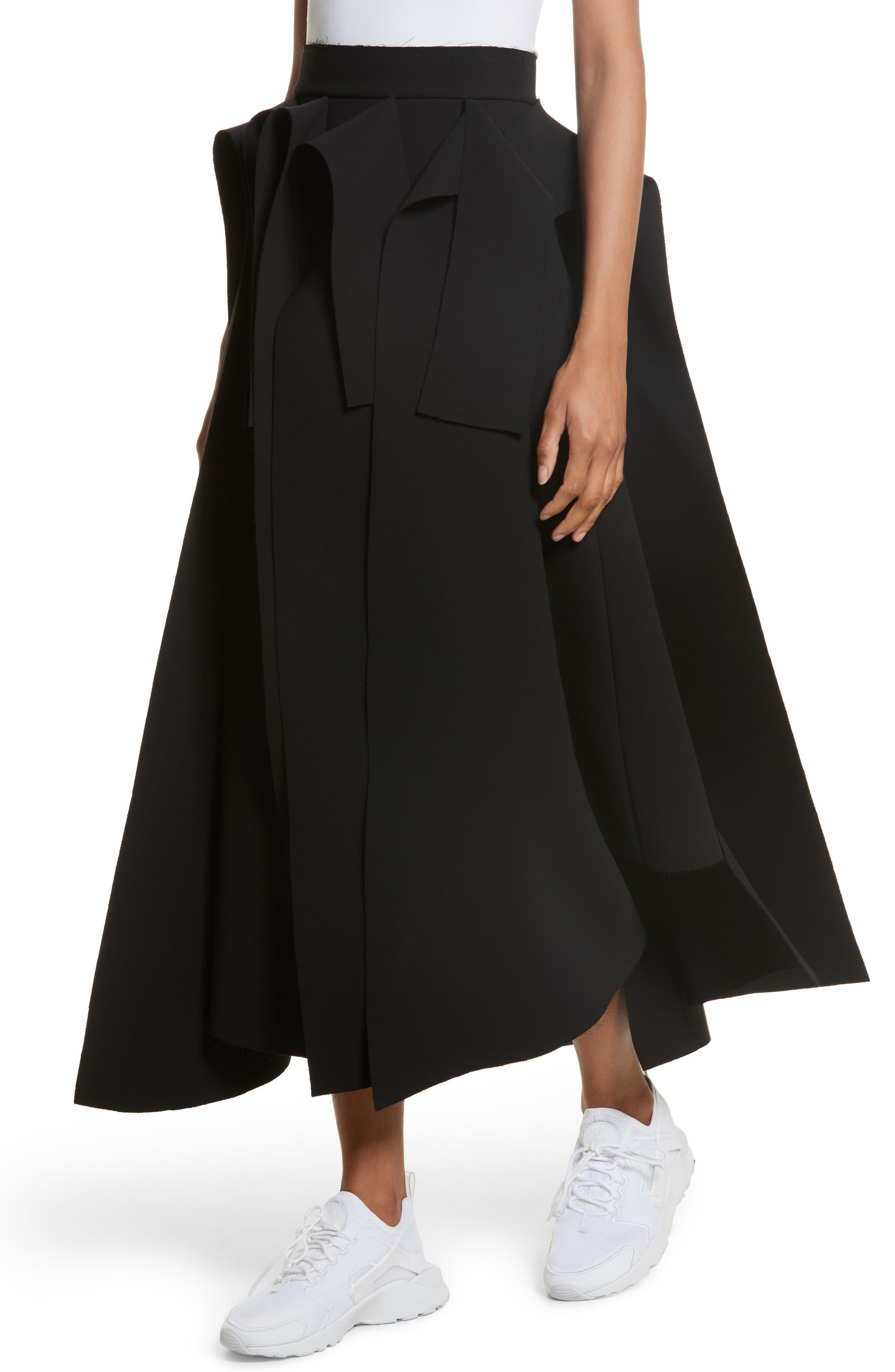 Asymmetric Panel Skirt,                             Alternate thumbnail 4, color,