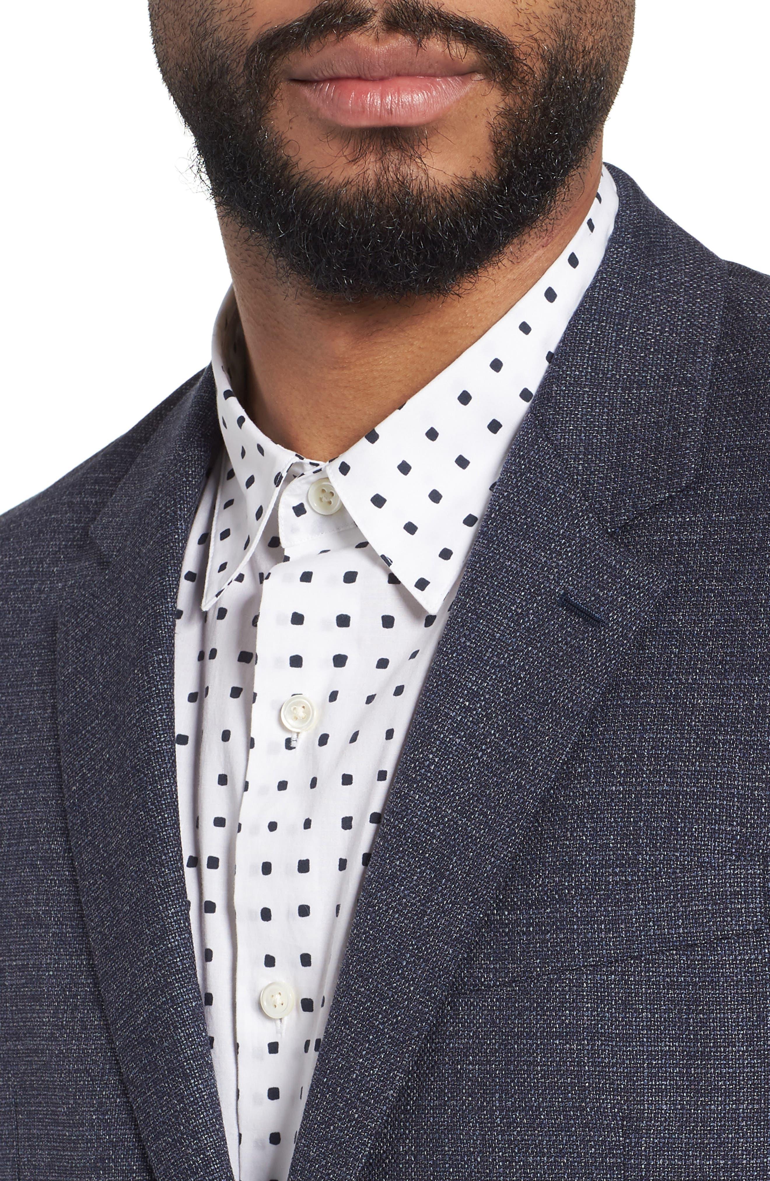 Gansevoort Regular Fit Wool Blazer,                             Alternate thumbnail 4, color,