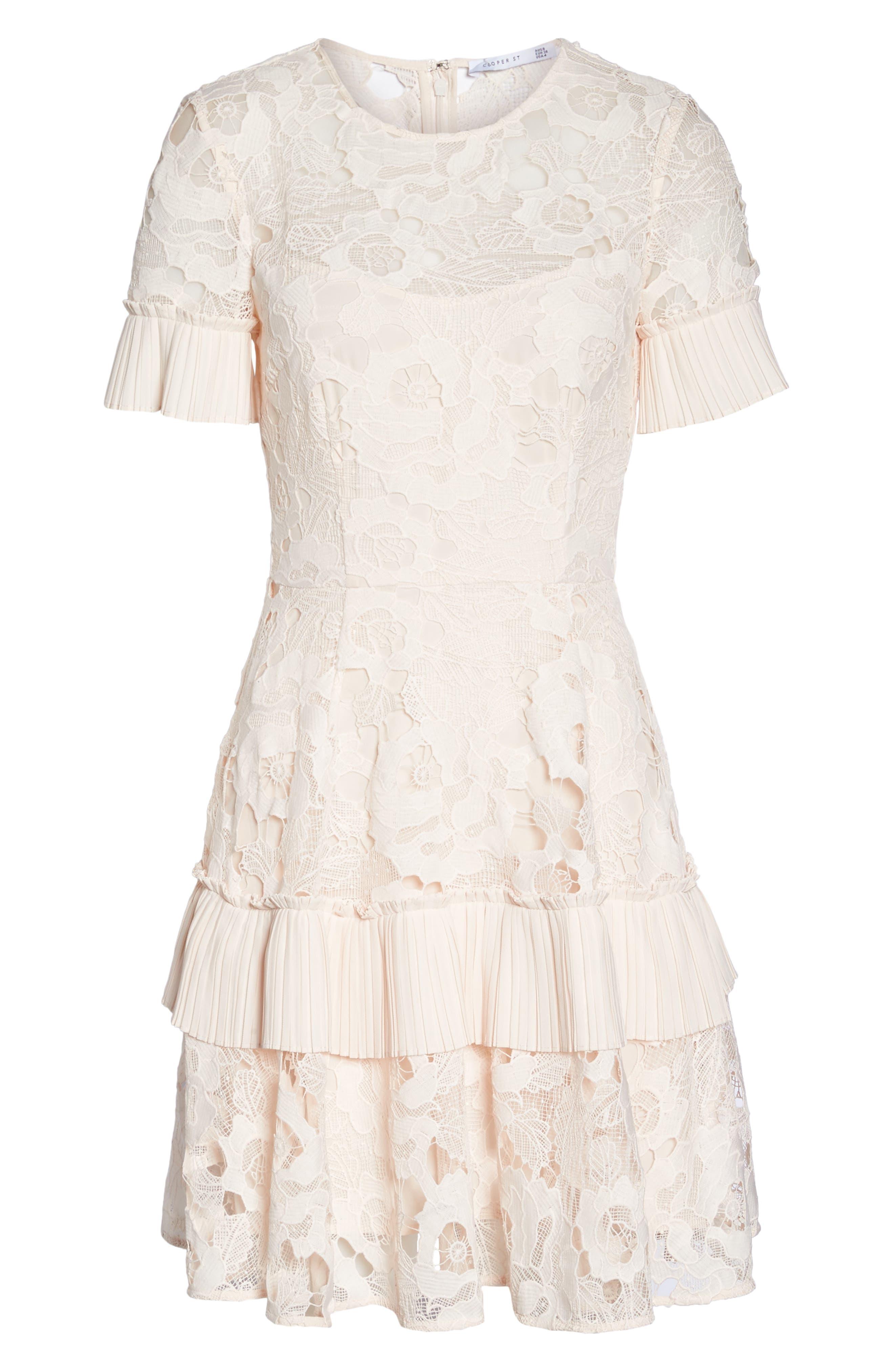 Enchantment Lace Fit & Flare Dress,                             Alternate thumbnail 6, color,                             650