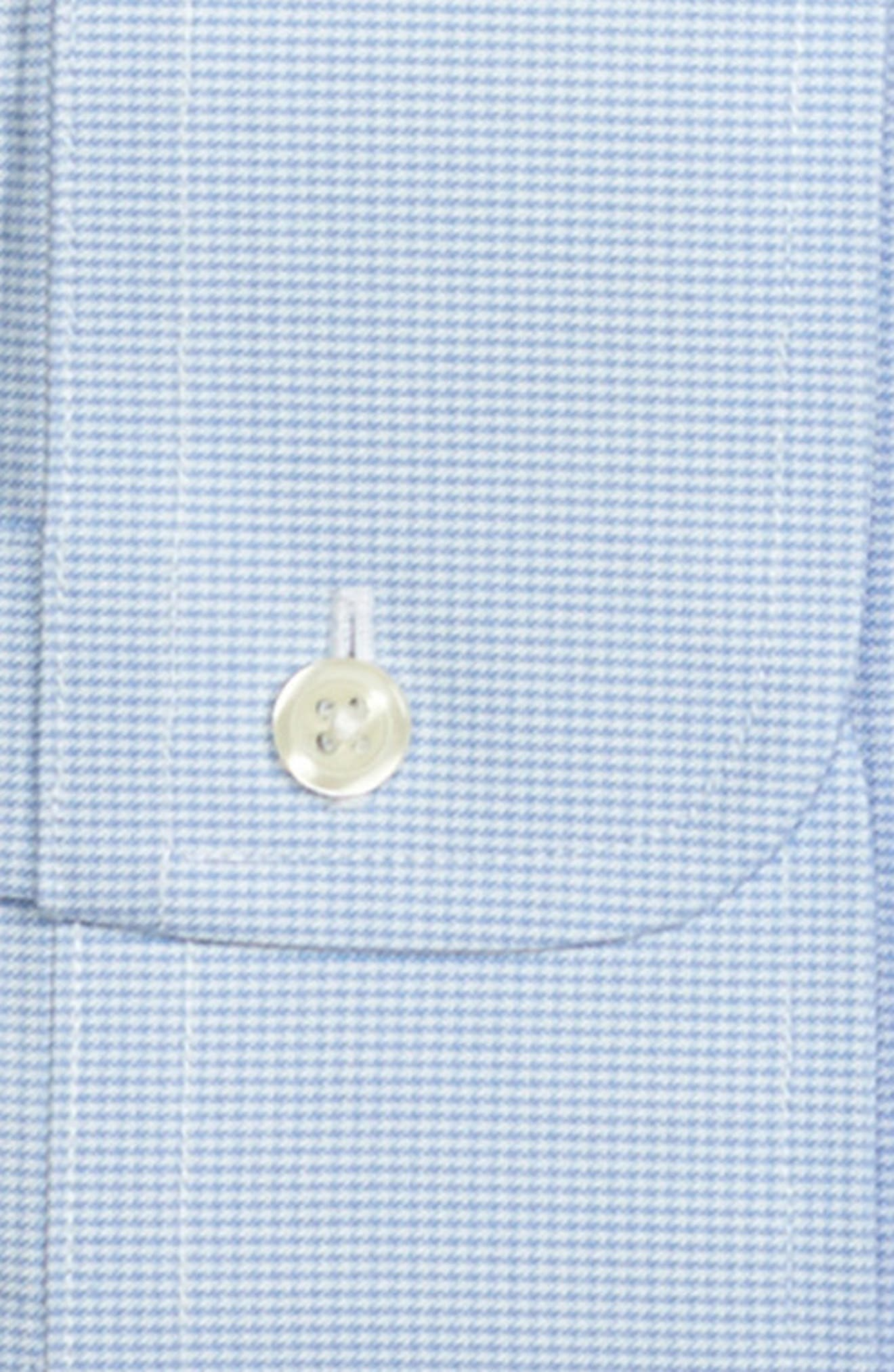 Classic Fit Houndstooth Dress Shirt,                             Alternate thumbnail 2, color,                             LIGHT/ PASTEL BLUE