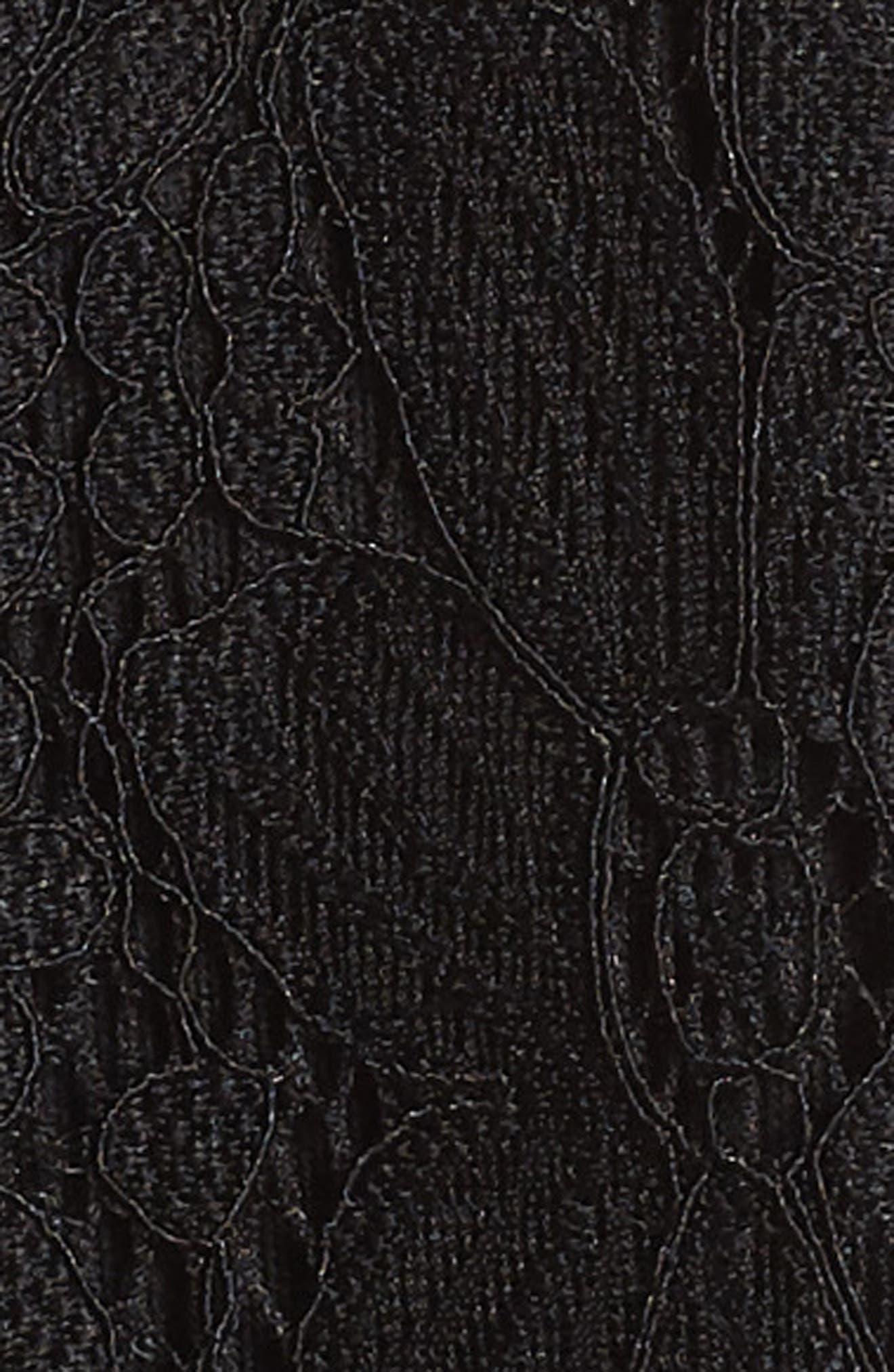 Lace Skater Dress,                             Alternate thumbnail 6, color,                             BLACK