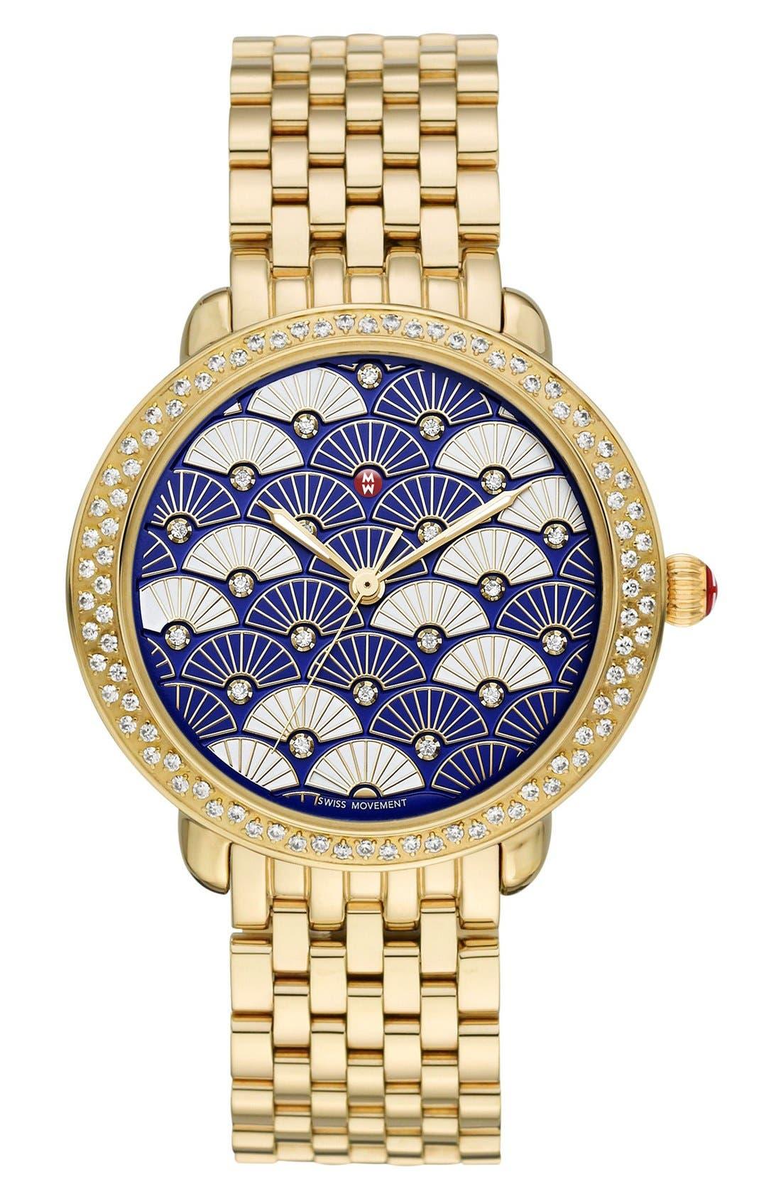 Serein 16mm Gold Plated Bracelet Watchband,                             Alternate thumbnail 6, color,                             GOLD