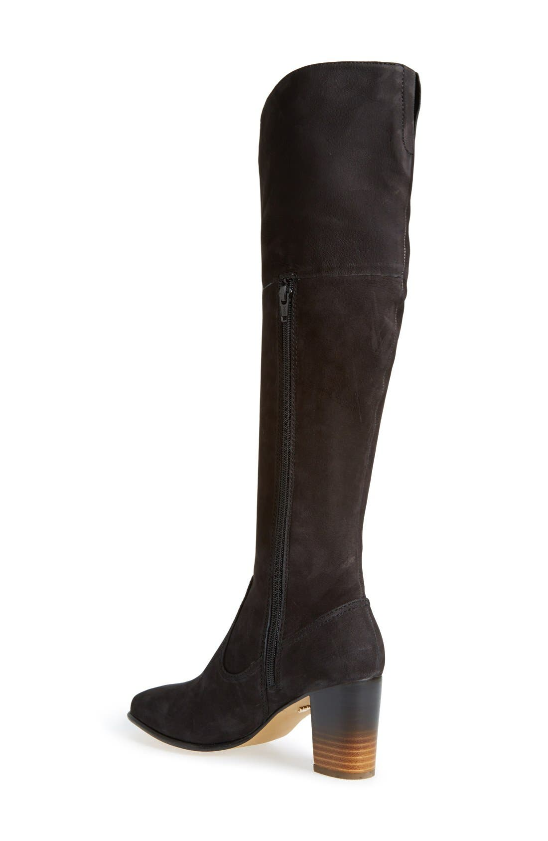 'Ventura' Over the Knee Boot,                             Alternate thumbnail 4, color,                             001