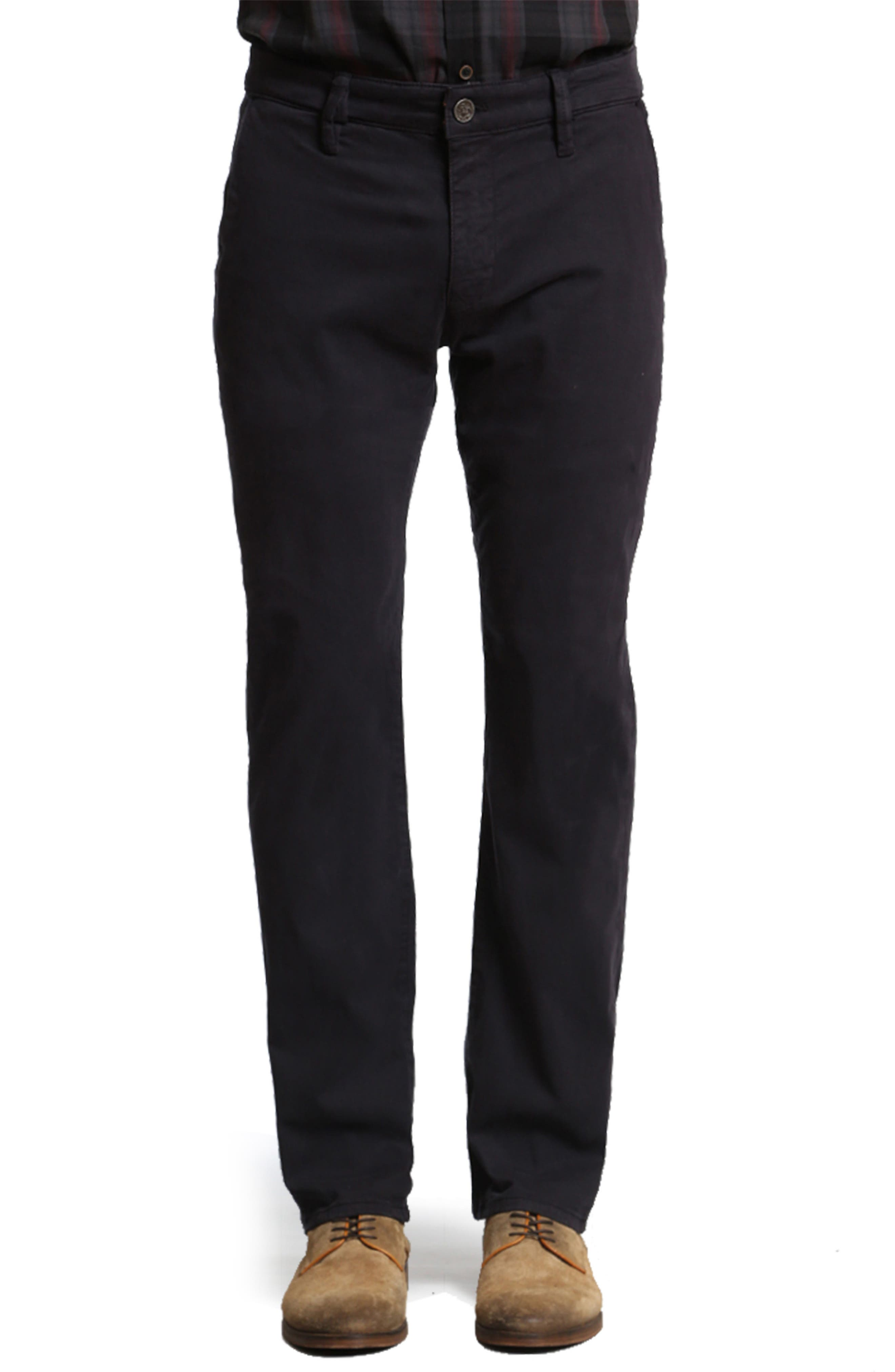 34 HERITAGE Naples Straight Leg Twill Pants, Main, color, NAVY TWILL