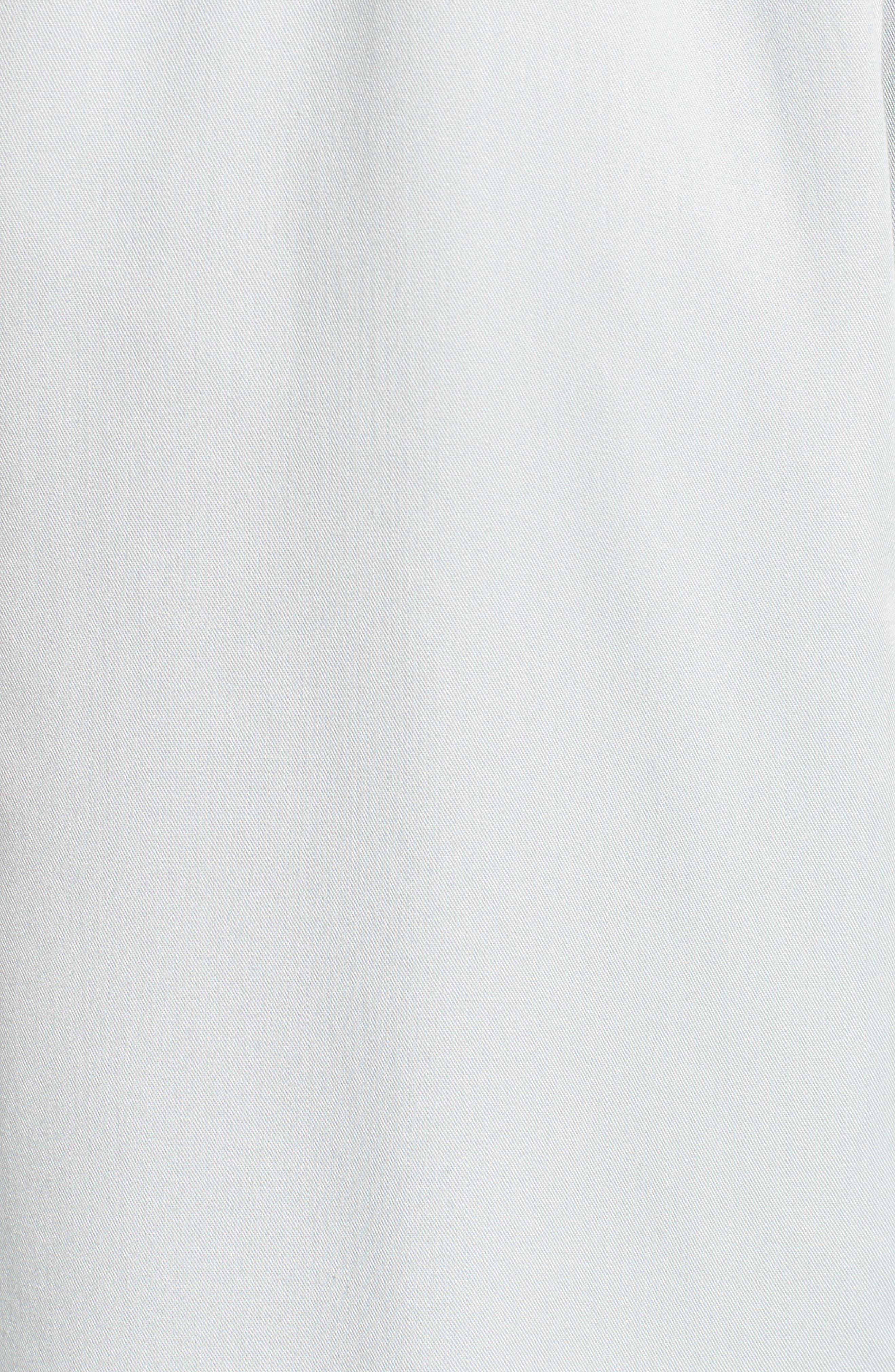 Ruffle Trim Trench Coat,                             Alternate thumbnail 6, color,                             450