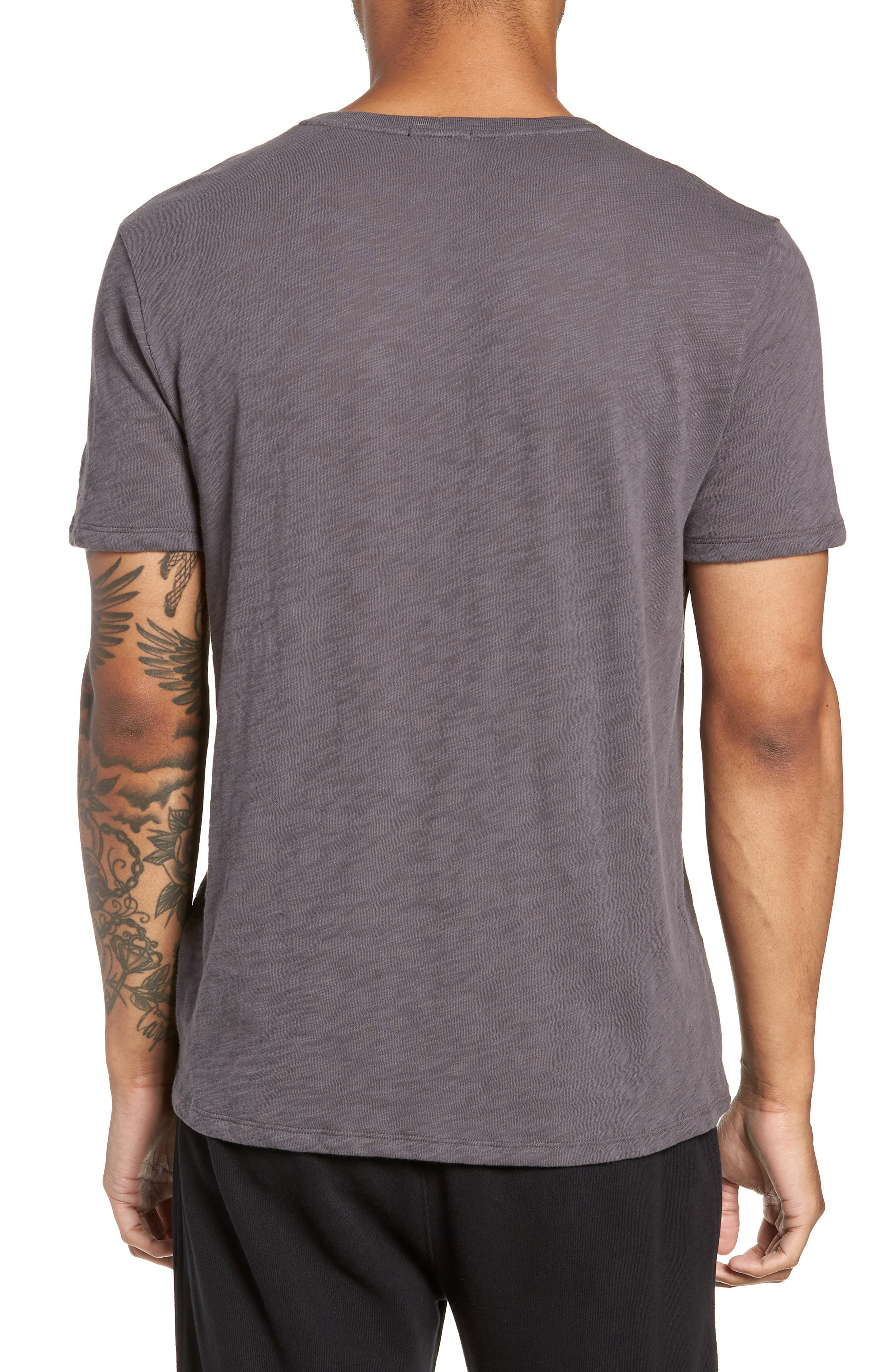 Crewneck T-Shirt,                             Alternate thumbnail 2, color,                             CHARCOAL
