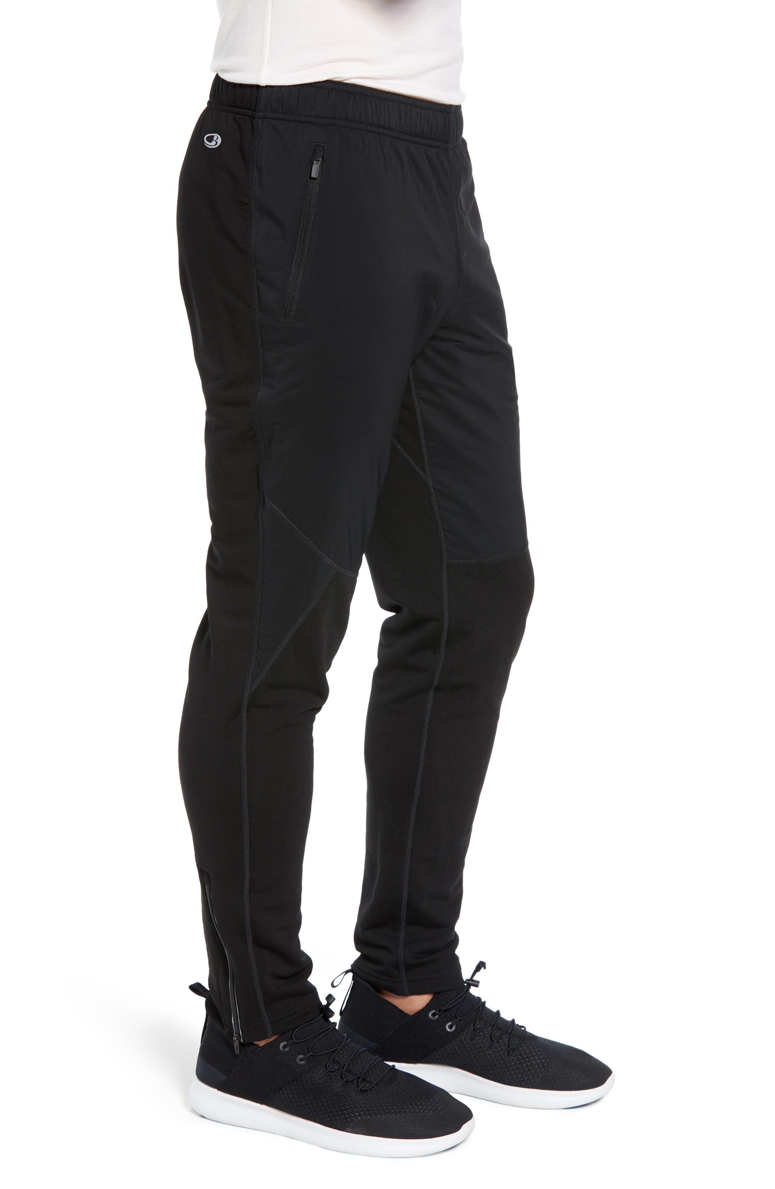 Tech Trainer Hybrid Sport Pants,                             Alternate thumbnail 3, color,                             BLACK