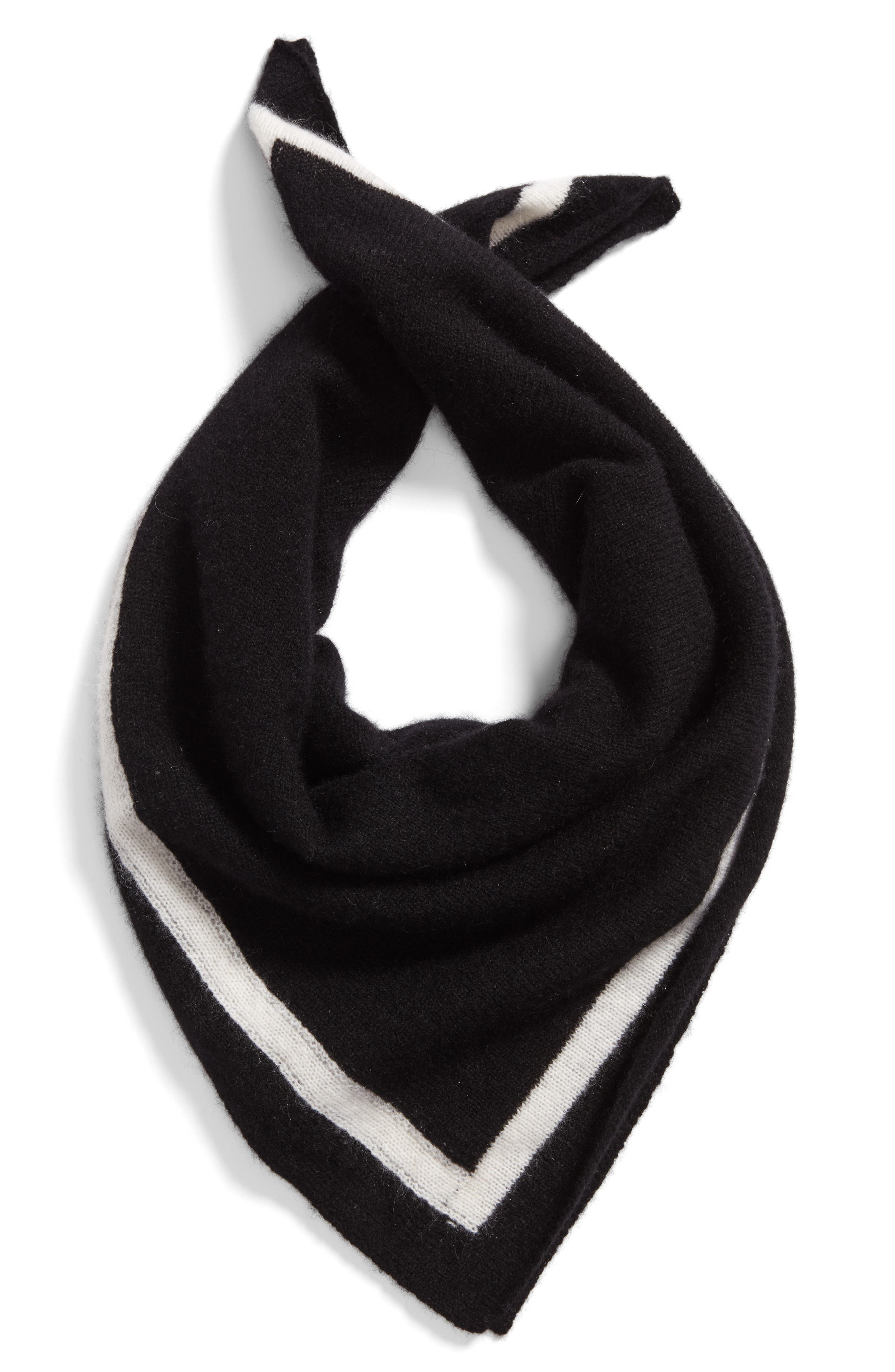 Tipped Cashmere Scarf,                             Alternate thumbnail 3, color,