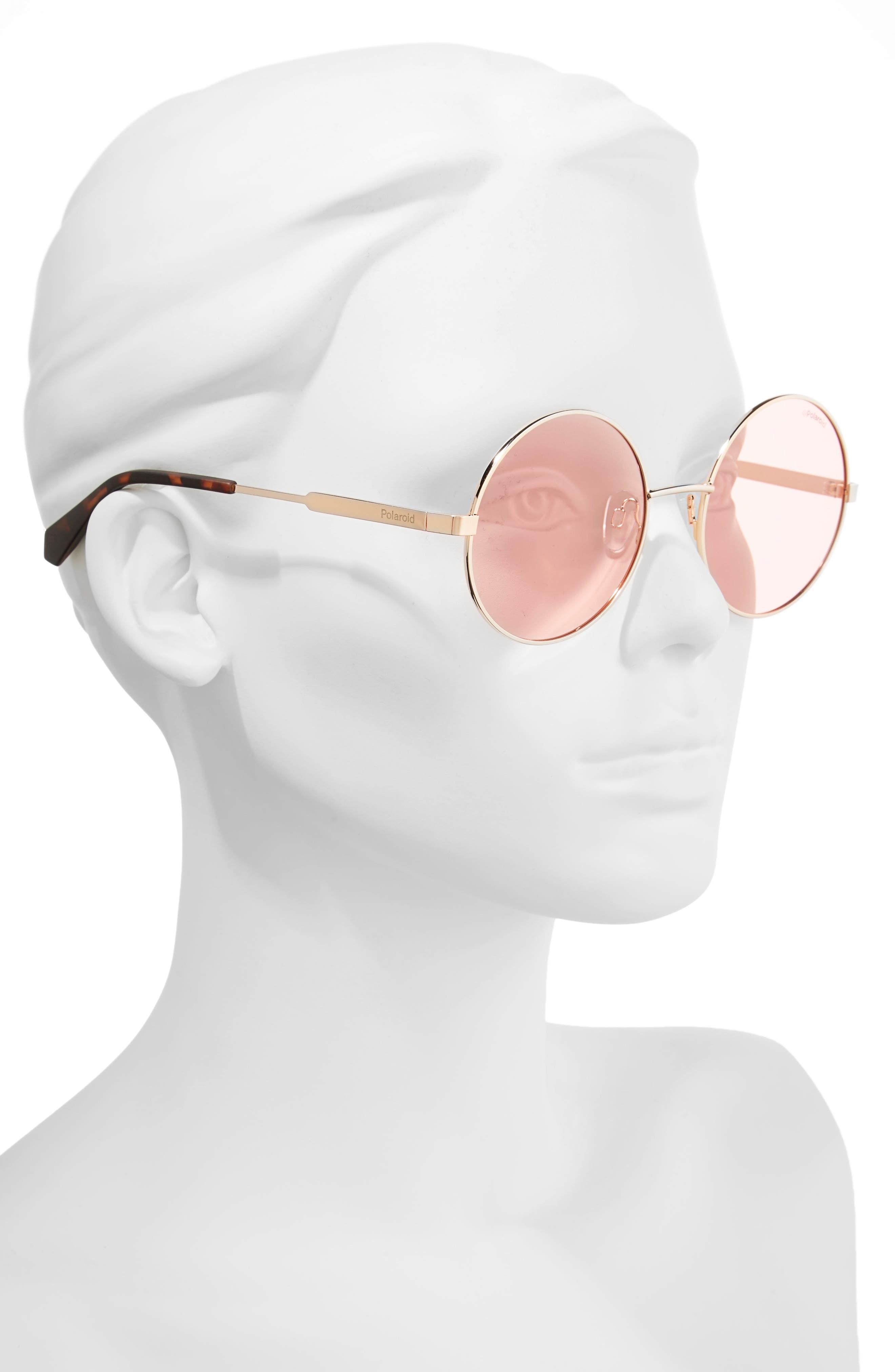 55mm Polarized Round Sunglasses,                             Alternate thumbnail 7, color,