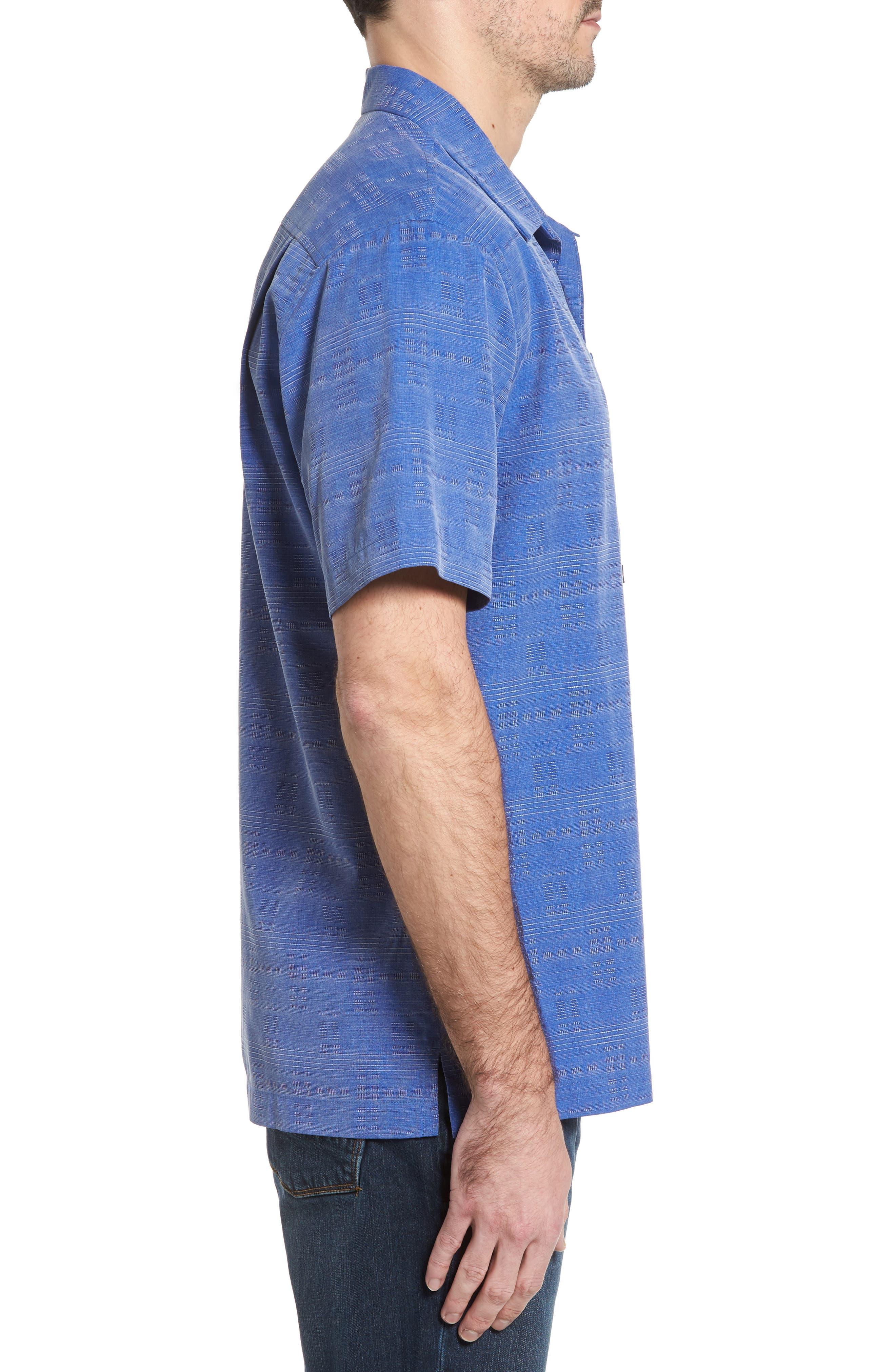 'Geo-Rific Jacquard' Original Fit Silk Camp Shirt,                             Alternate thumbnail 23, color,