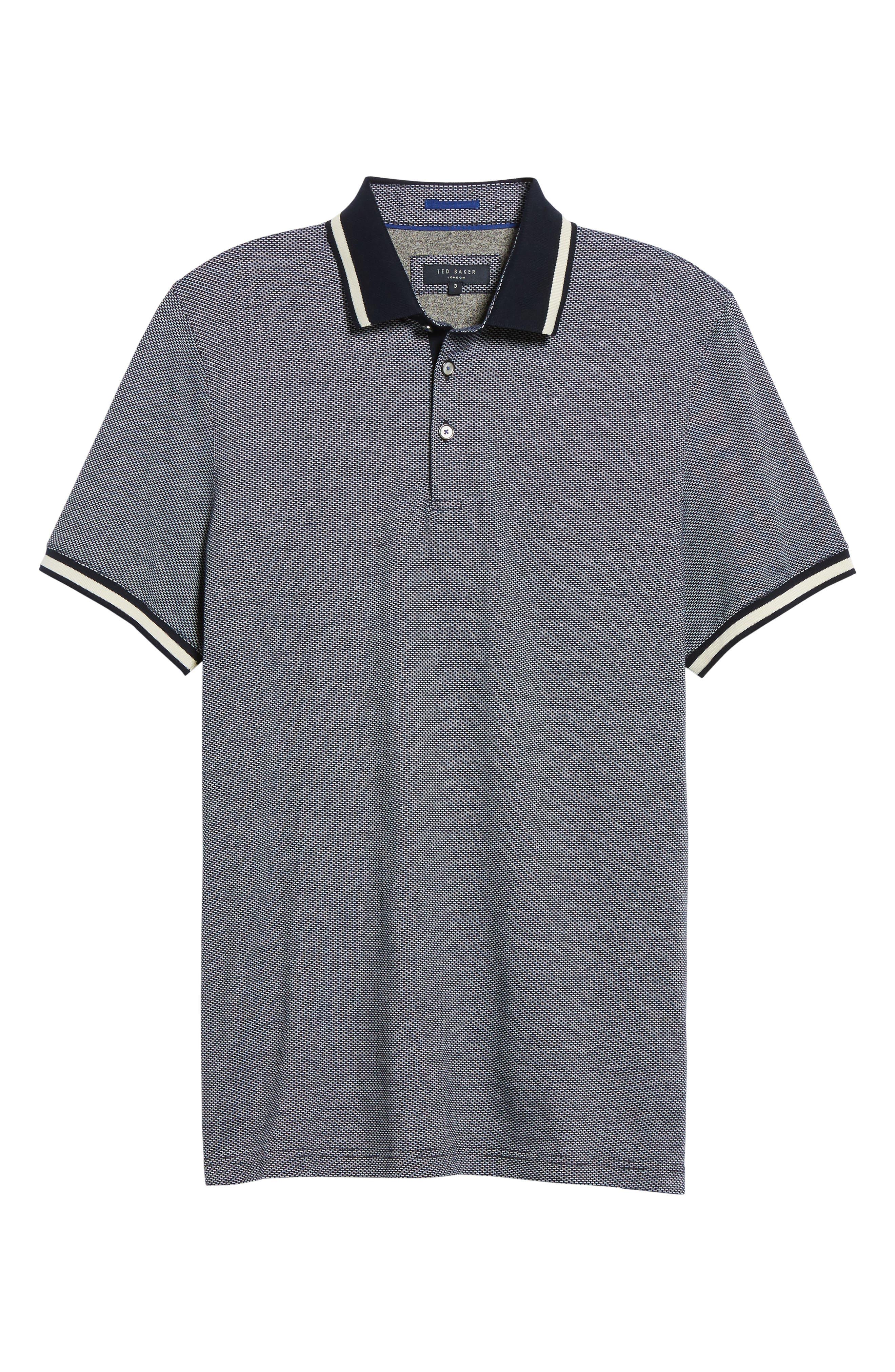 Poodal Stripe Jersey Polo,                             Alternate thumbnail 6, color,                             410