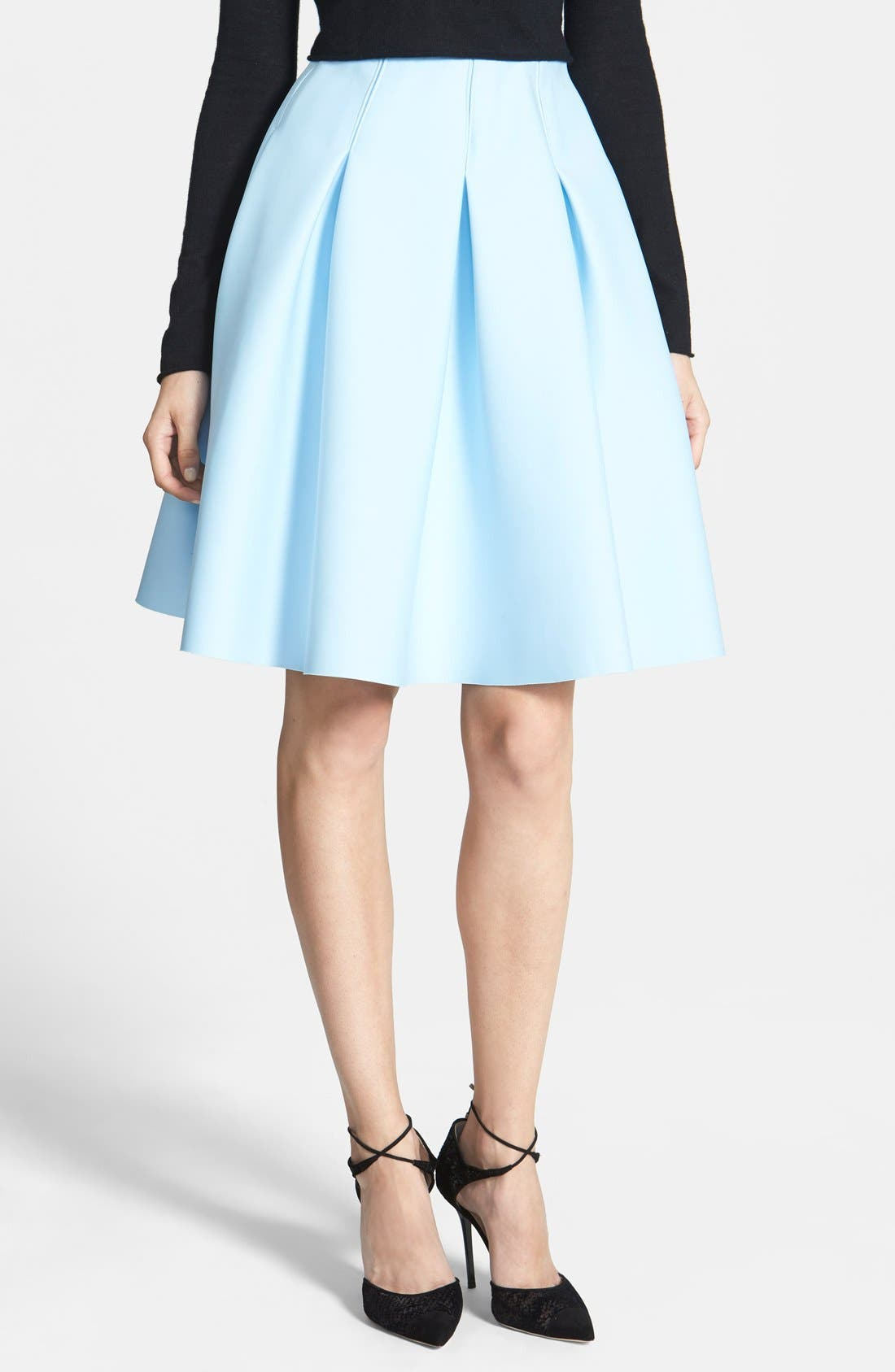 1.STATE,                             Pleated Jersey Skirt,                             Main thumbnail 1, color,                             400