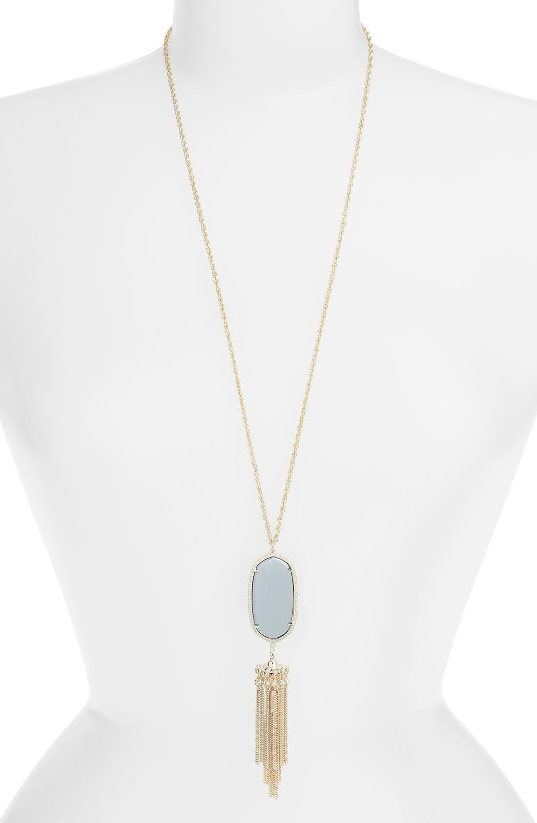 Rayne Stone Tassel Pendant Necklace,                             Main thumbnail 48, color,