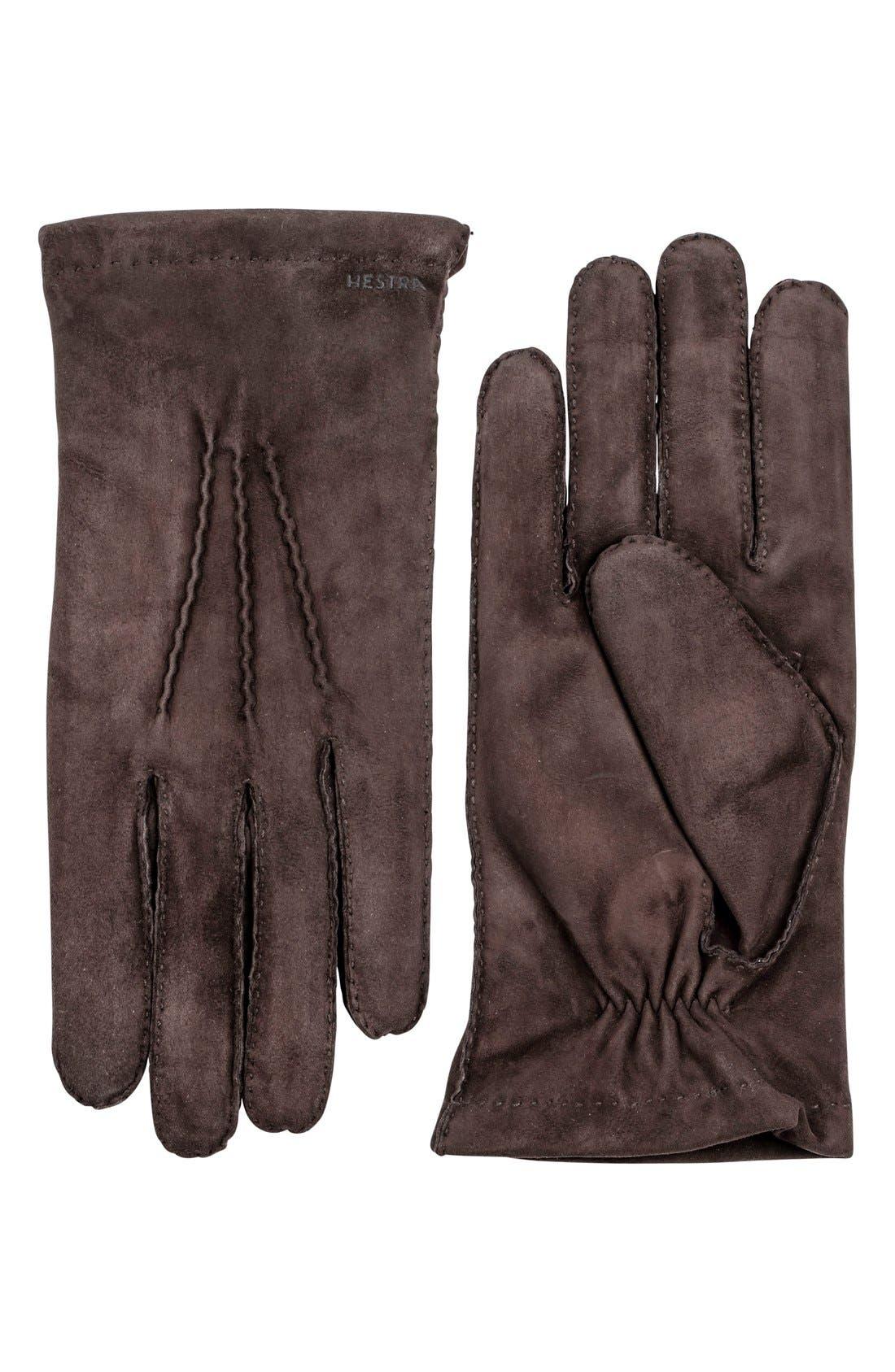 'Arthur' Suede Gloves,                             Main thumbnail 2, color,