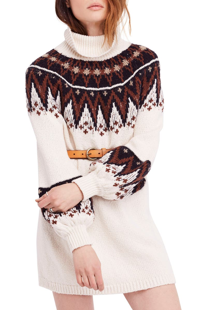 Free People Scotland Turtleneck Sweater Minidress | Nordstrom