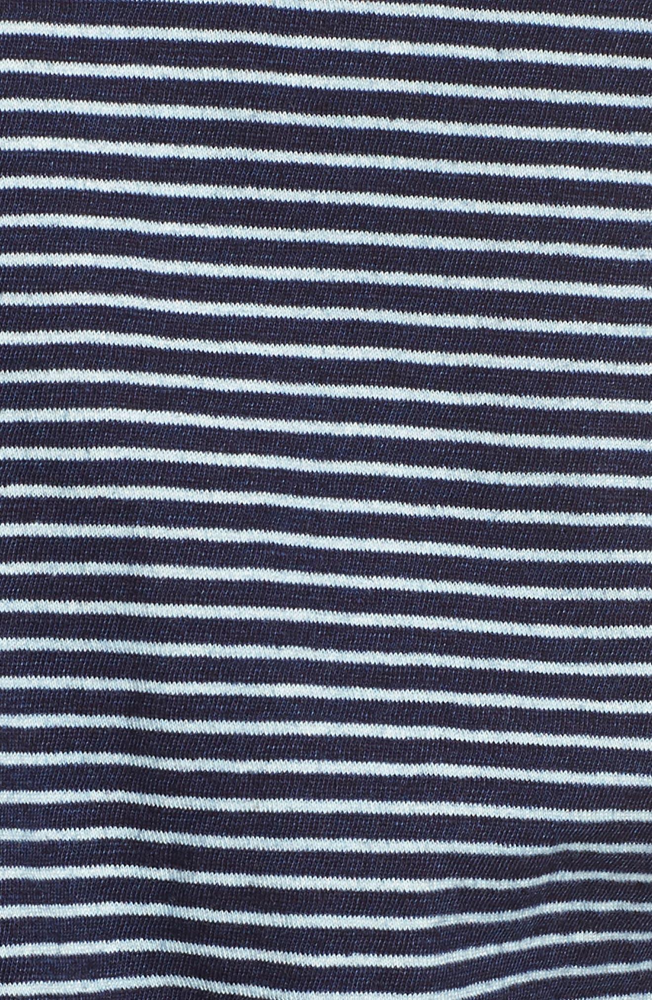 Mixed Media Drawstring Dress,                             Alternate thumbnail 6, color,                             495
