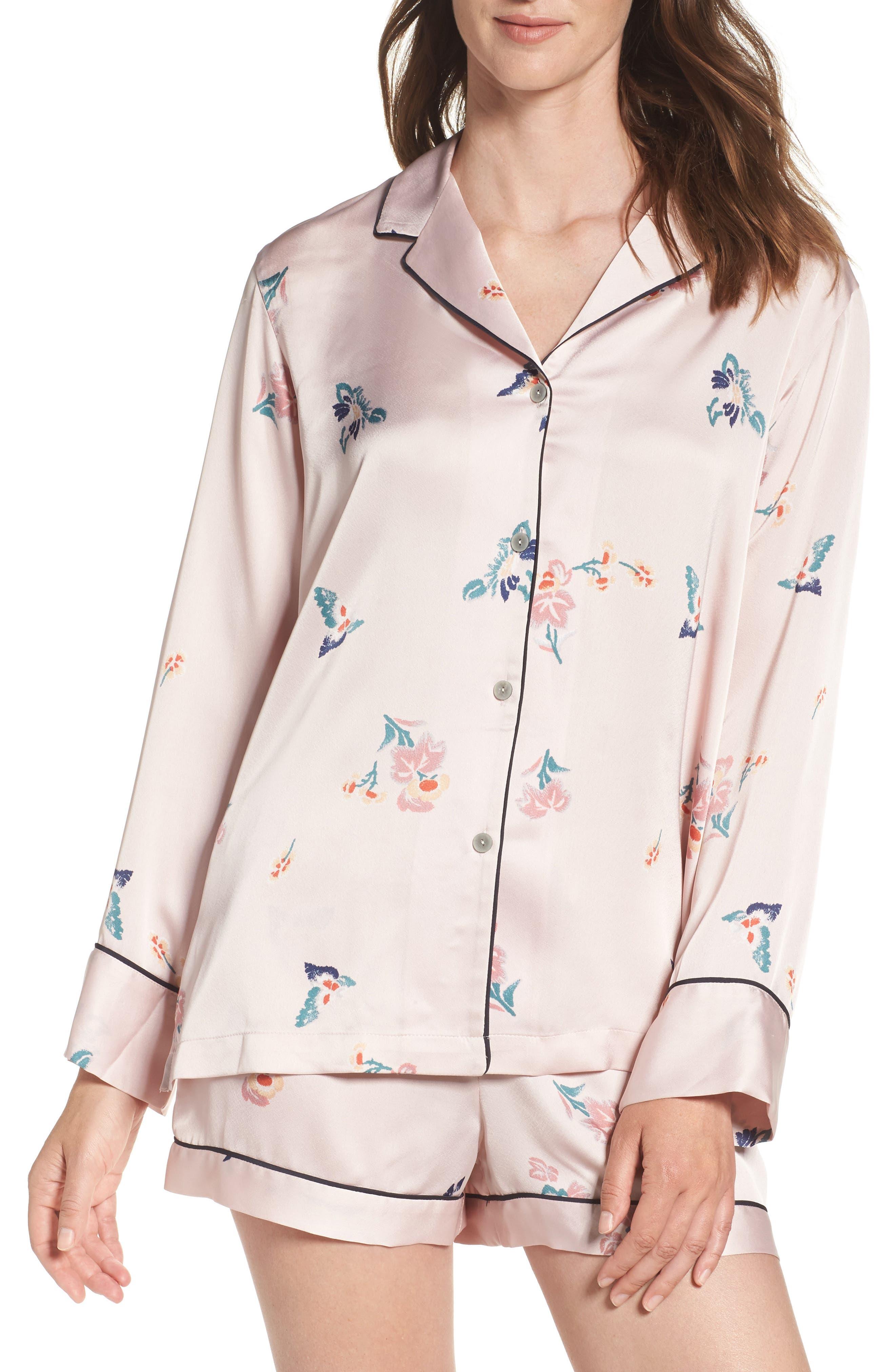 Papillon Print Short Pajamas,                             Main thumbnail 2, color,