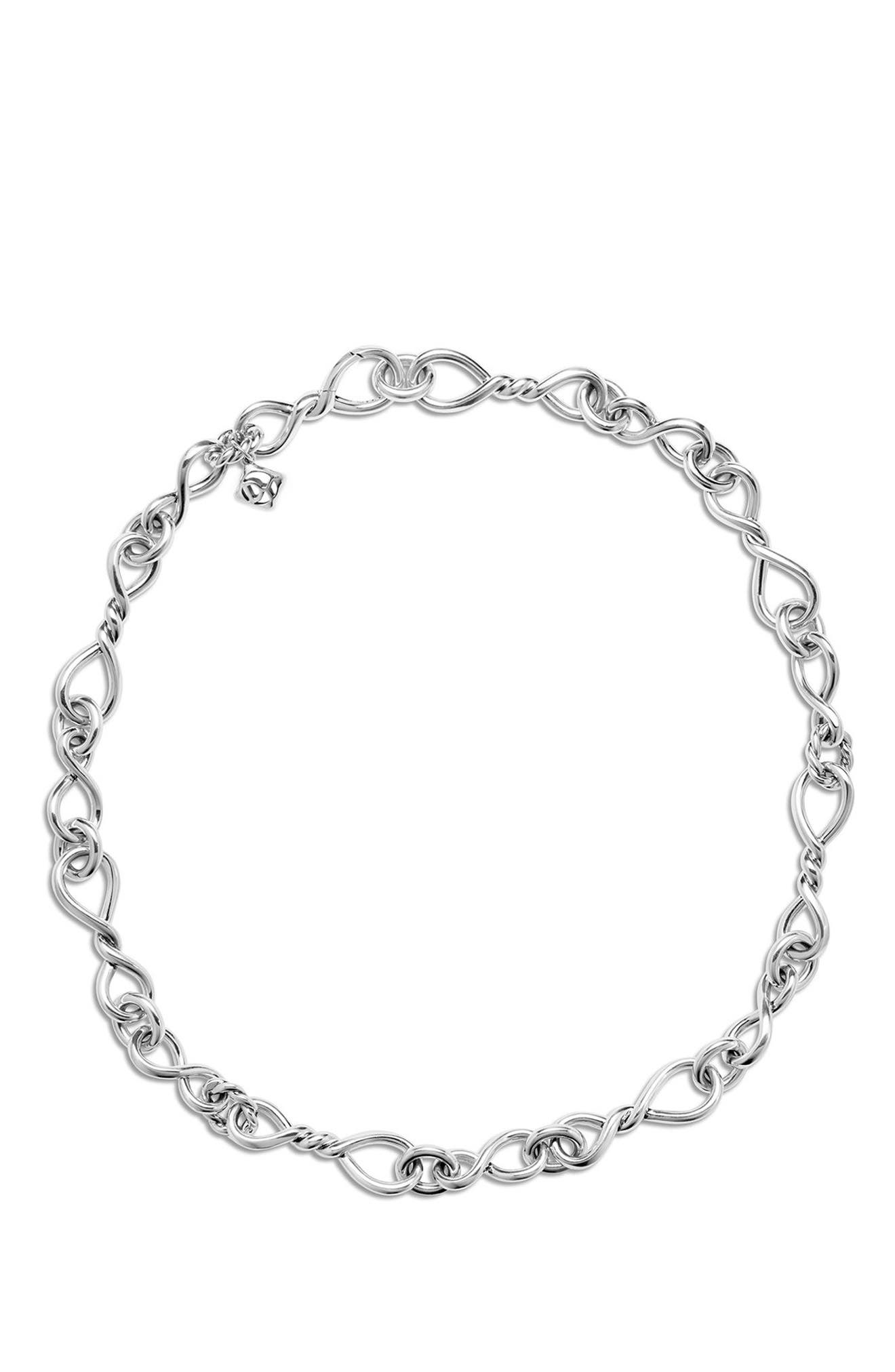 Continuance Medium Chain Necklace,                             Alternate thumbnail 2, color,                             SILVER