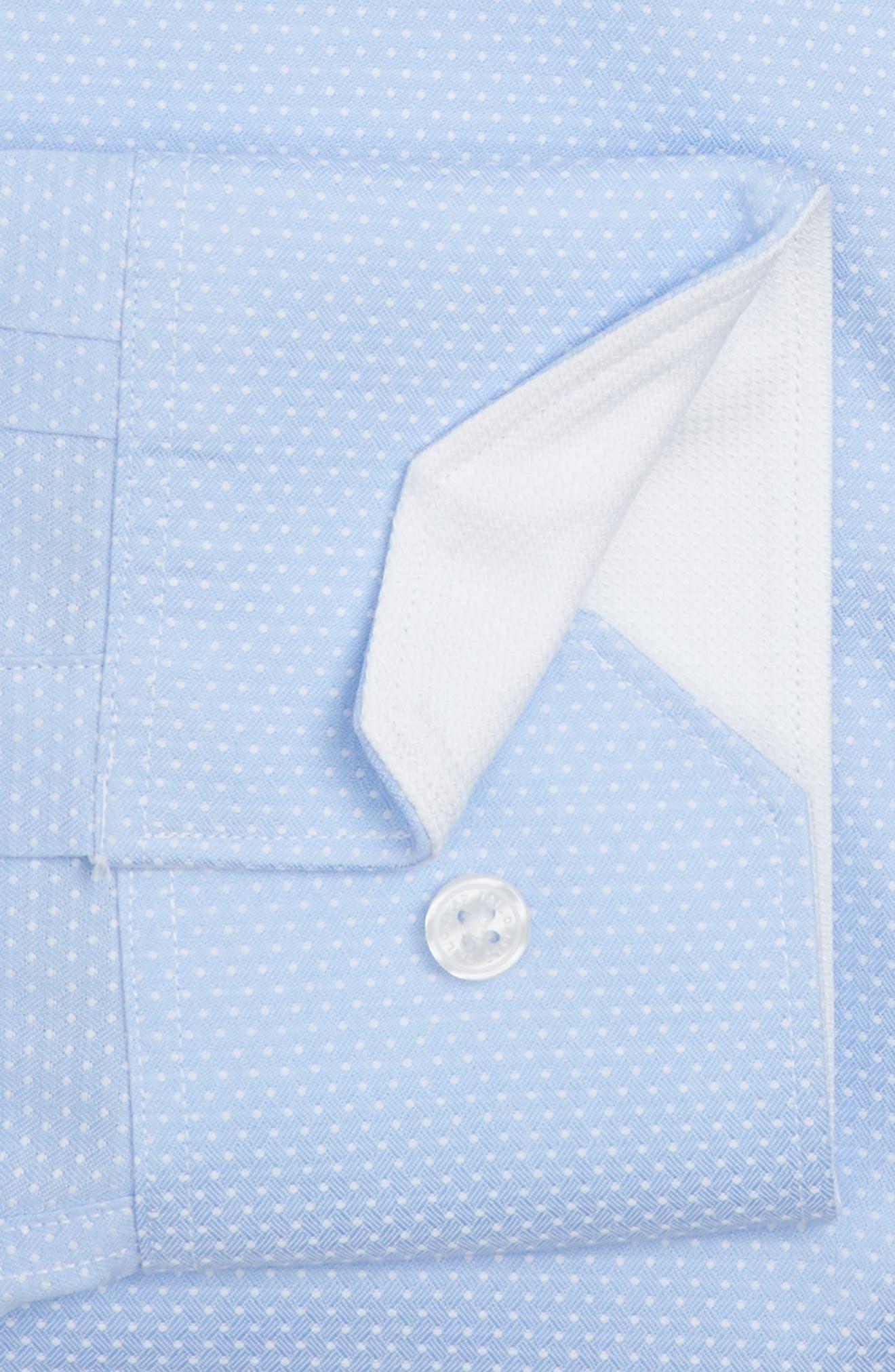 Trim Fit Non-Iron Dot Dress Shirt,                             Alternate thumbnail 2, color,                             450