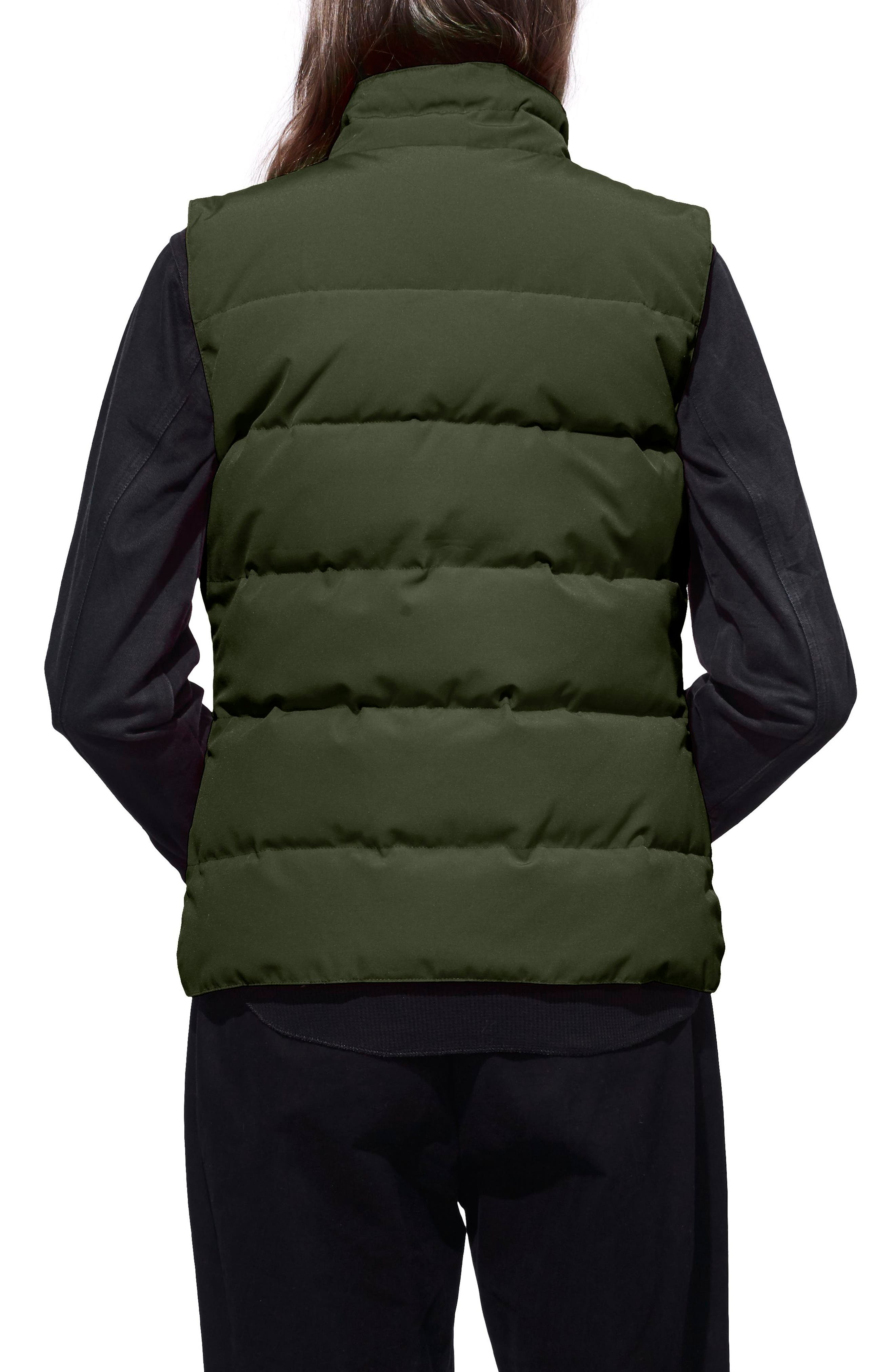'Freestyle' Slim Fit Down Vest,                             Alternate thumbnail 2, color,                             MILITARY GREEN