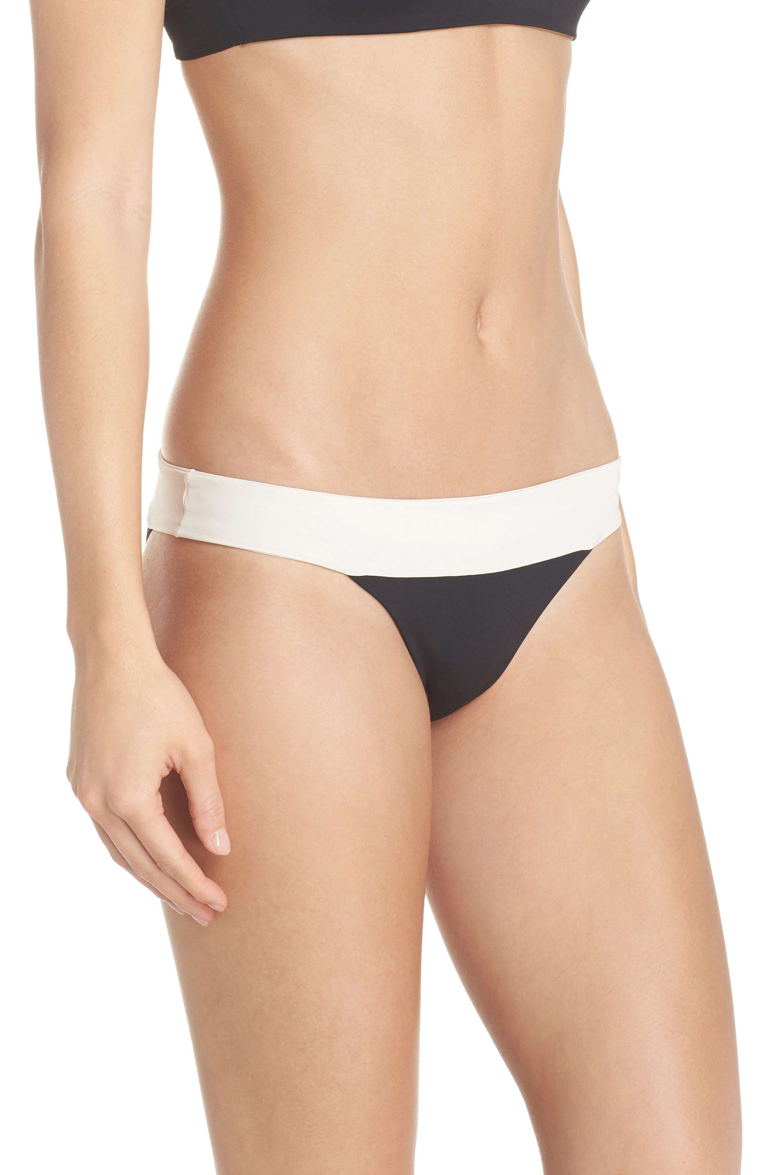 Reversible Bikini Bottom,                             Alternate thumbnail 3, color,                             CREAM/ BLACK/ CAMEL