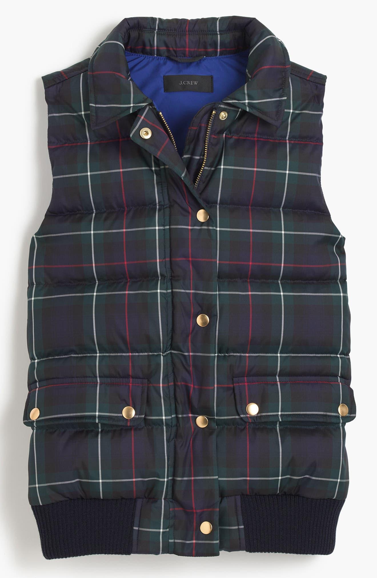 Plaid Puffer Vest,                             Alternate thumbnail 5, color,                             400