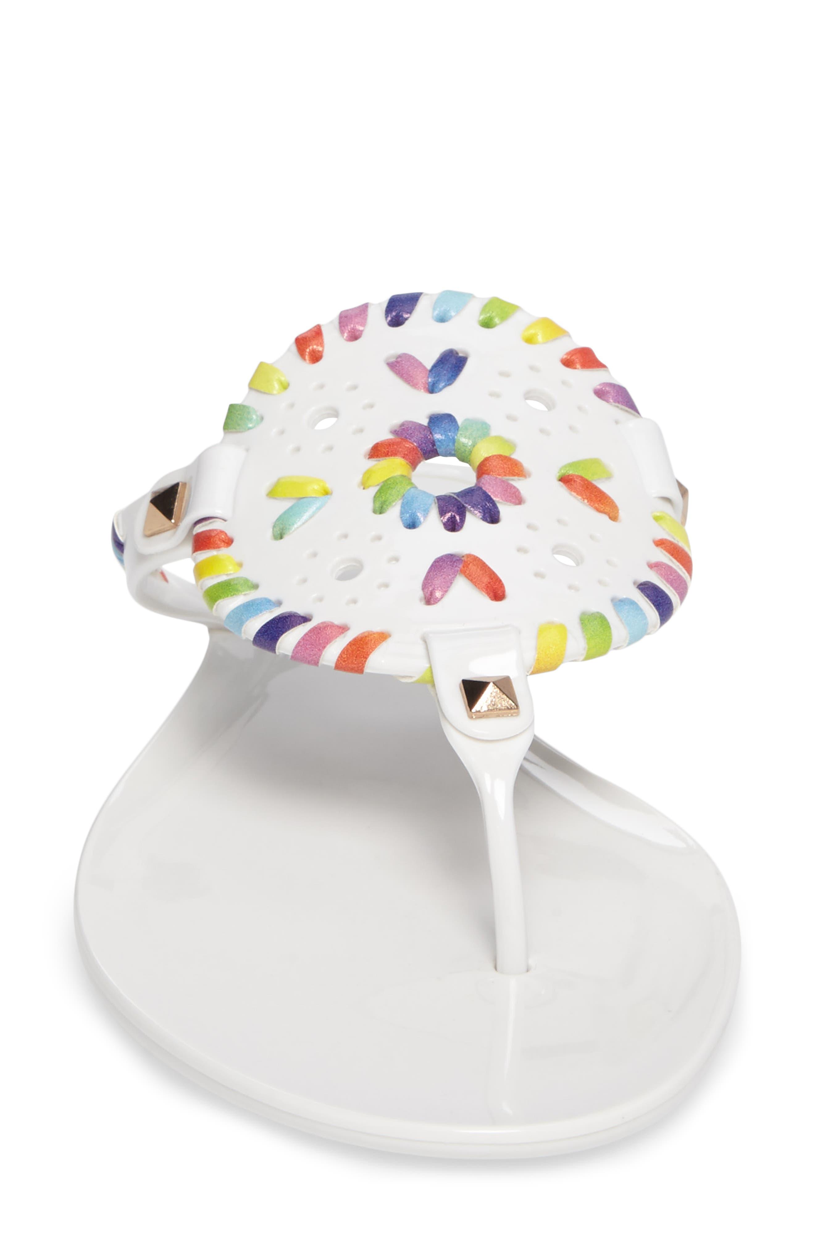 'Georgica' Jelly Flip Flop,                             Alternate thumbnail 144, color,