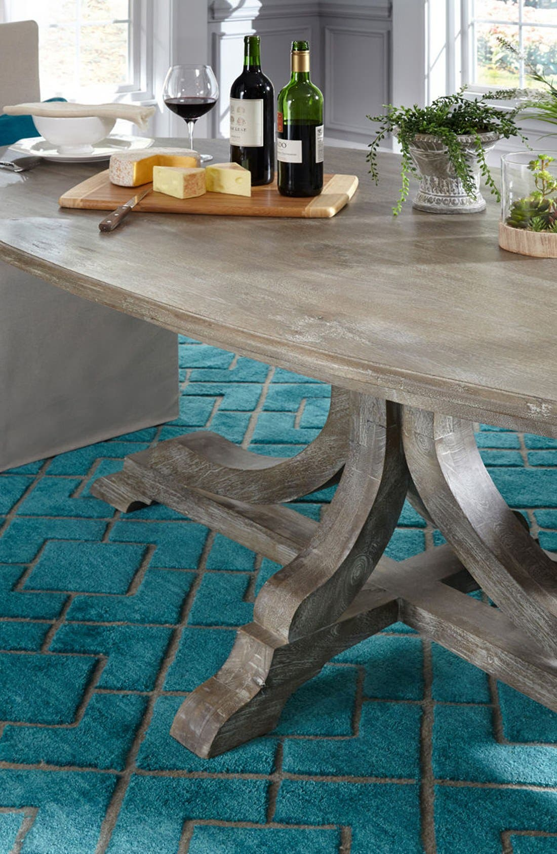 VILLA HOME COLLECTION,                             'Over Tufted - Turquoise' Rug,                             Alternate thumbnail 5, color,                             440