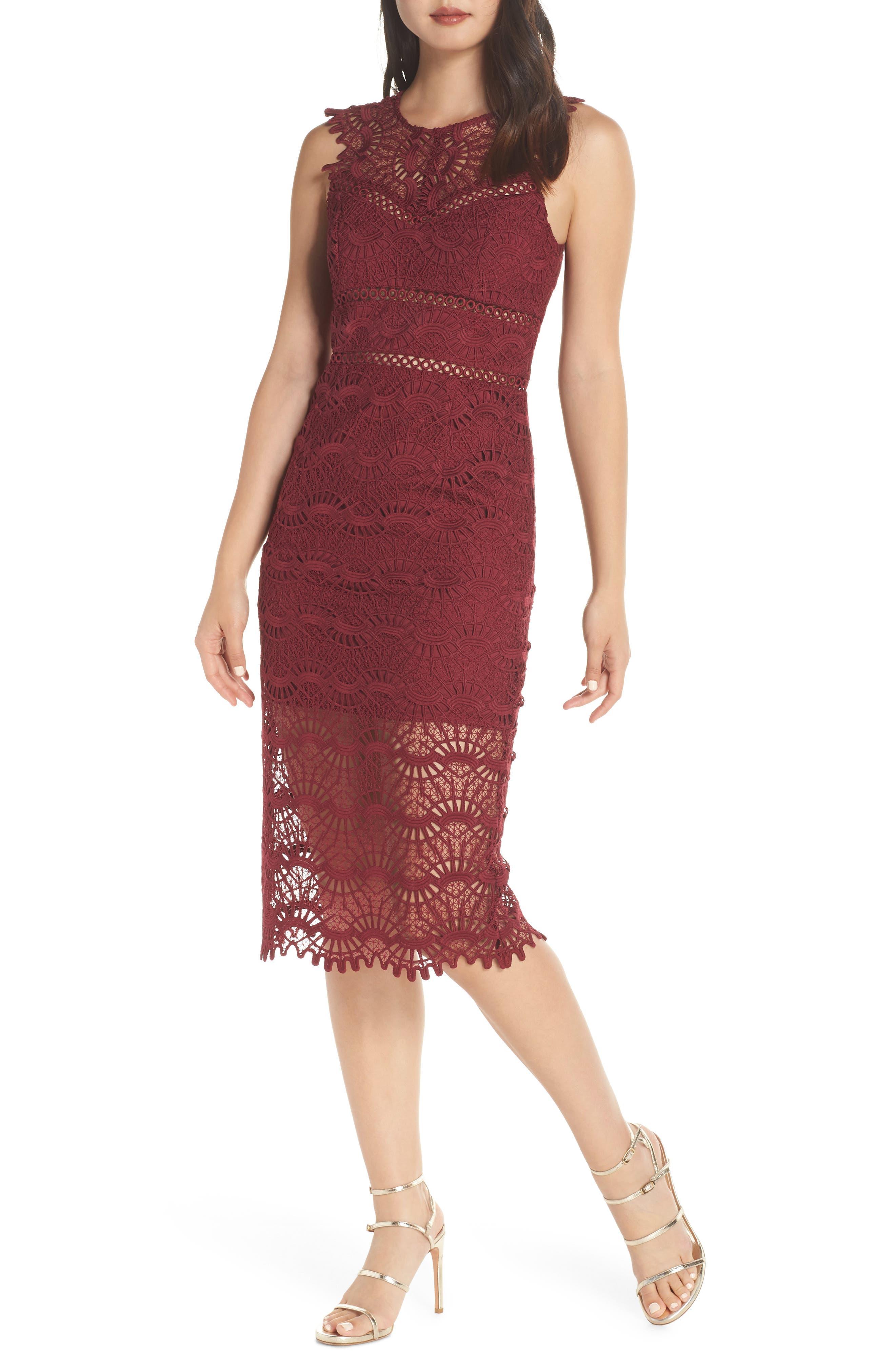 Mariano Lace Sheath Dress,                             Main thumbnail 1, color,                             601